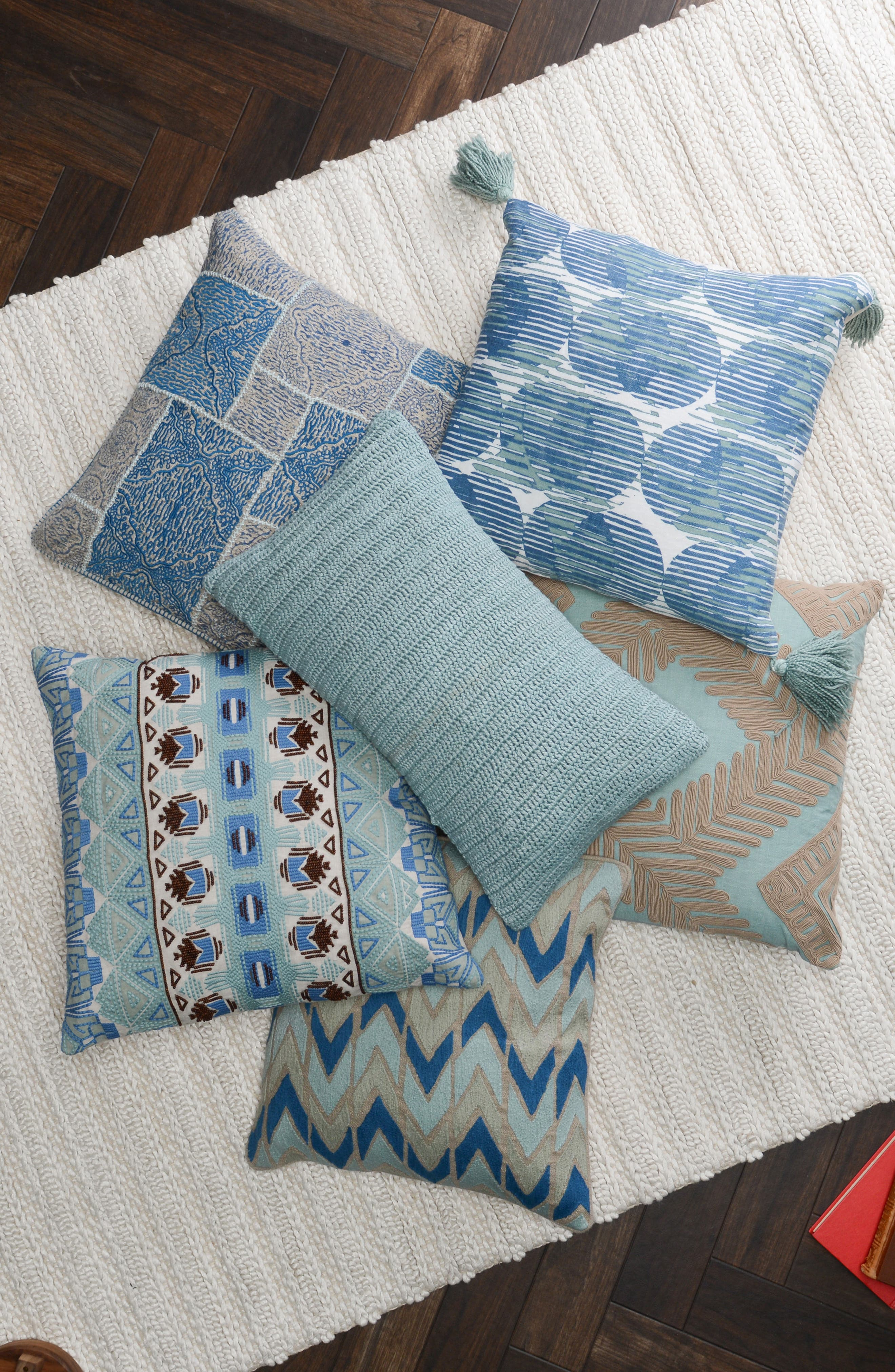 Olympia Accent Pillow,                             Alternate thumbnail 2, color,                             ARTIC BLUE