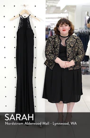 Lace Neck Halter Gown, sales video thumbnail