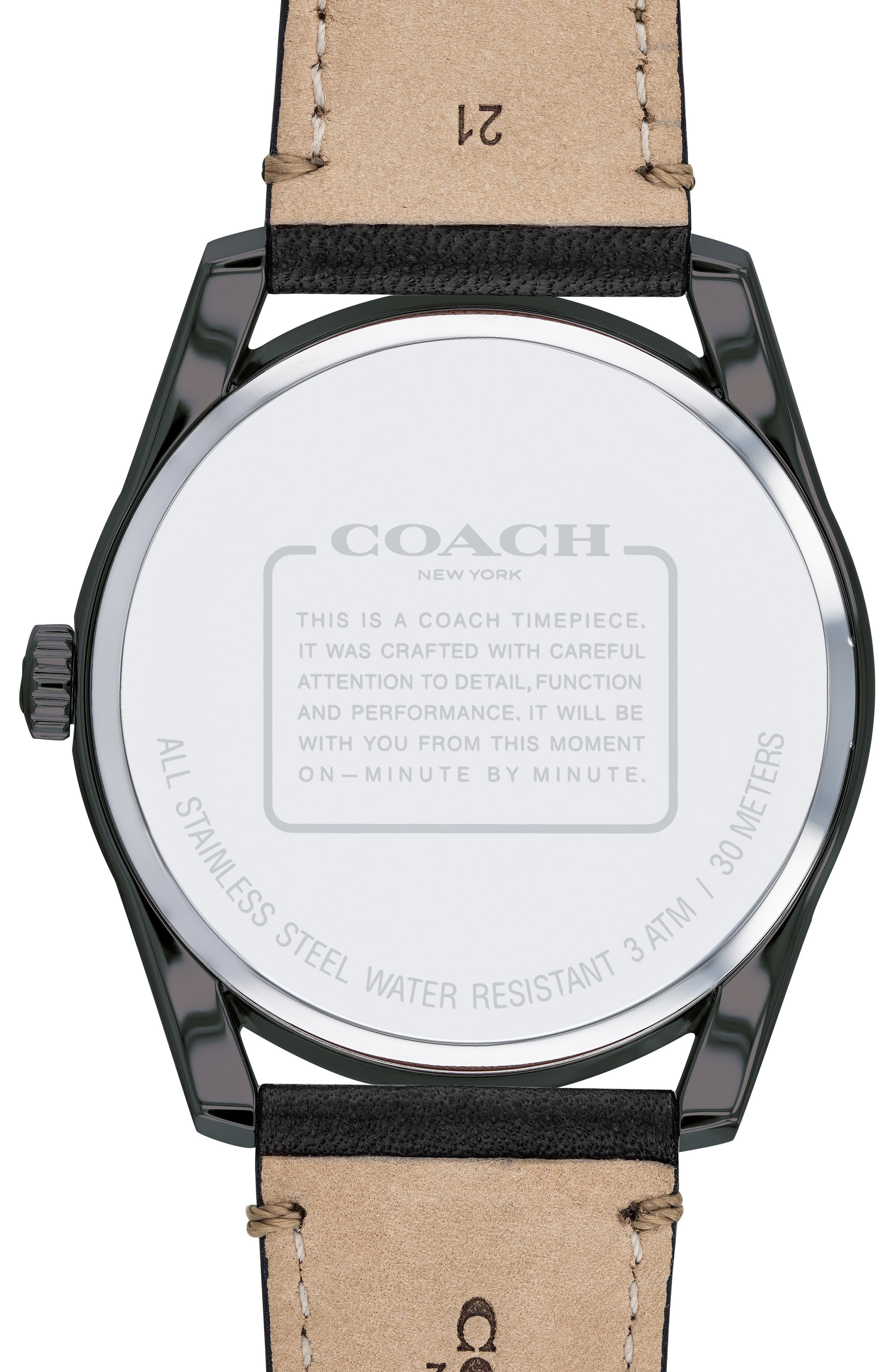 Preston Leather Strap Watch, 41mm,                             Alternate thumbnail 2, color,                             001