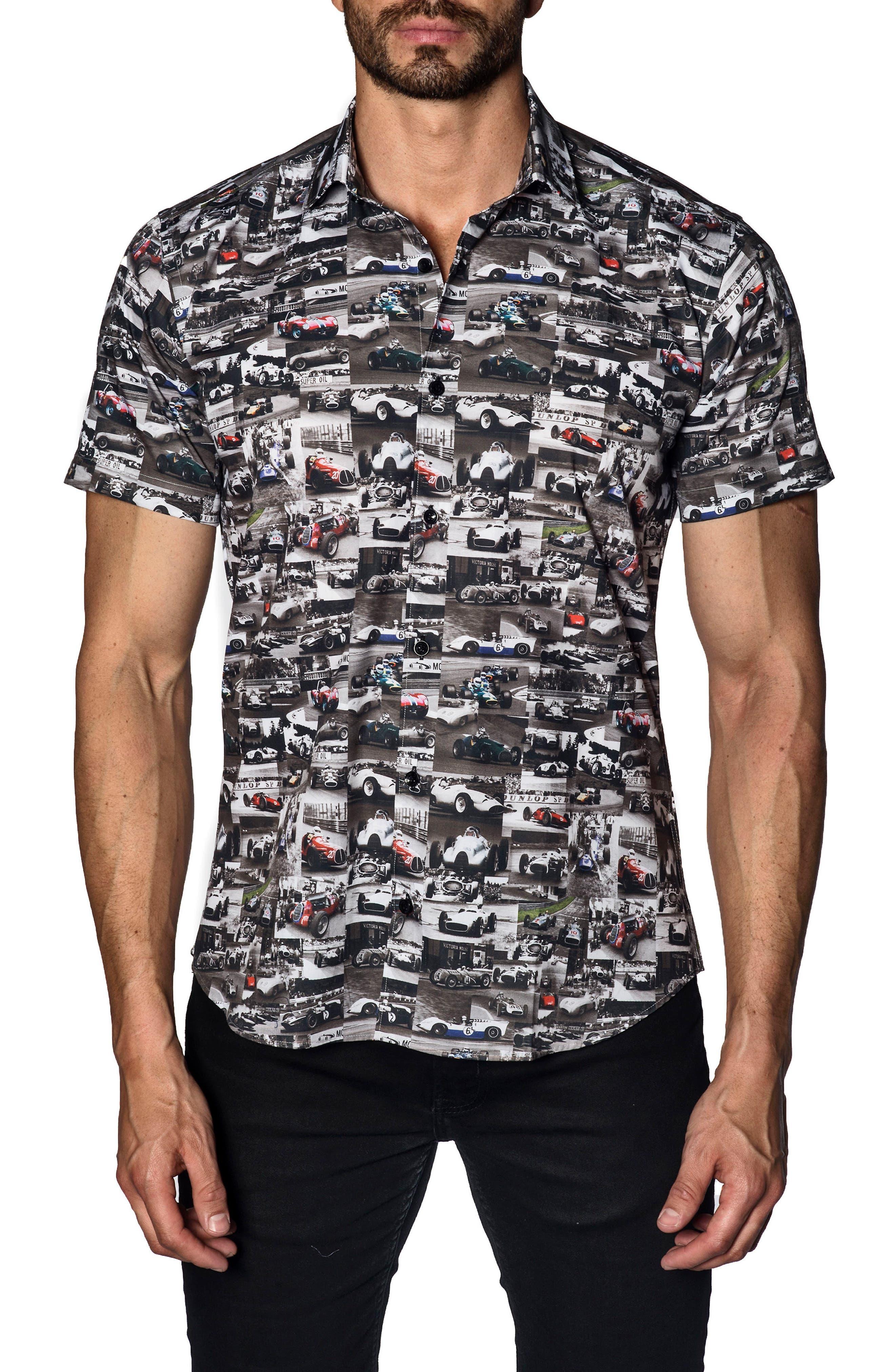 Trim Fit Sport Shirt,                             Main thumbnail 1, color,                             001