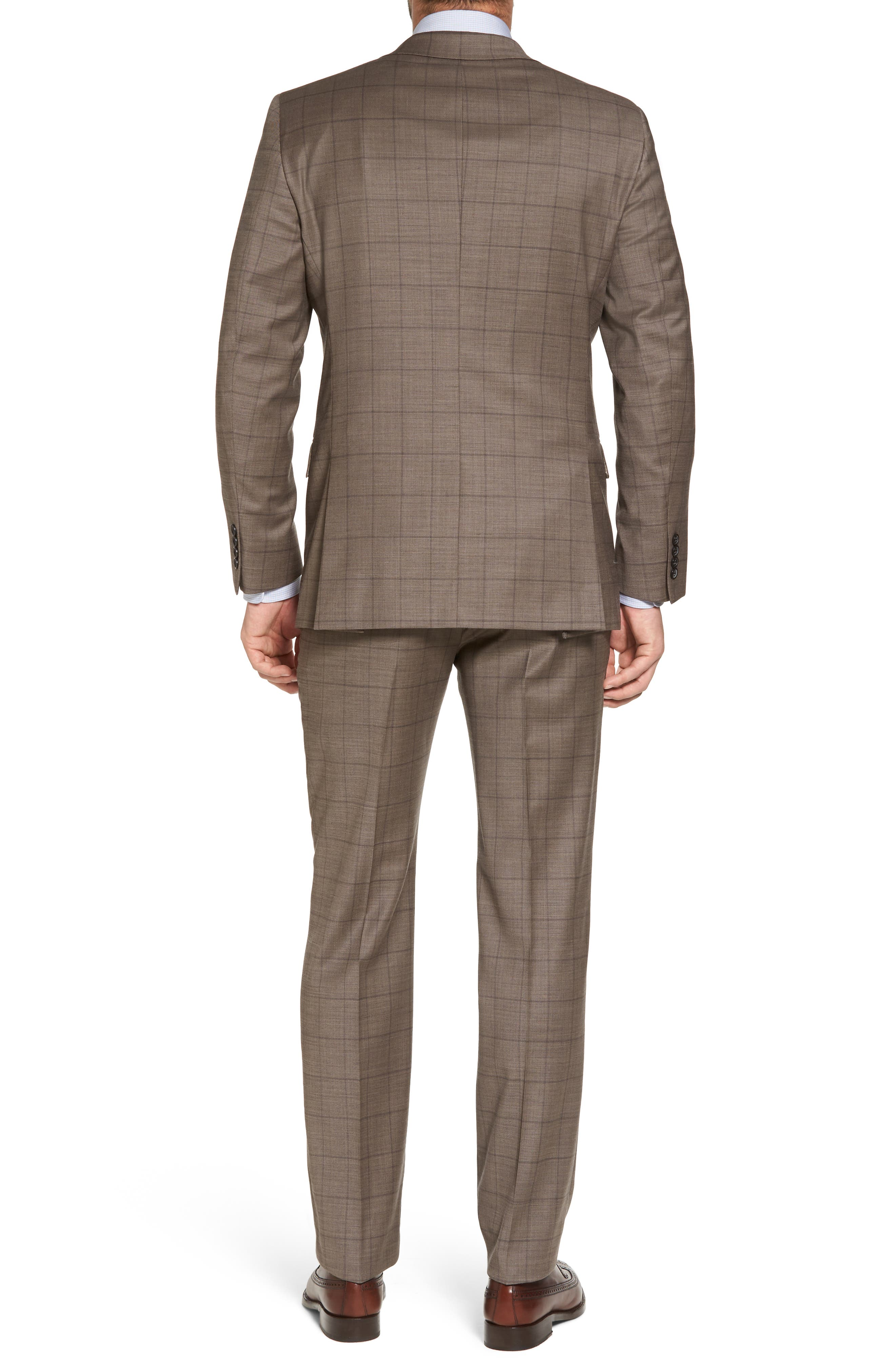 New York Classic Fit Stretch Windowpane Wool Suit,                             Alternate thumbnail 2, color,                             210