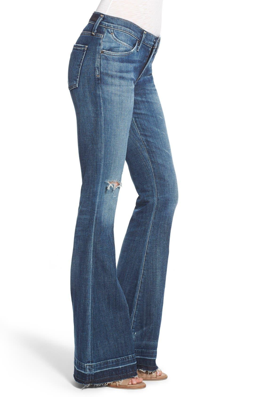 Madison Flare Jeans,                             Alternate thumbnail 4, color,                             404