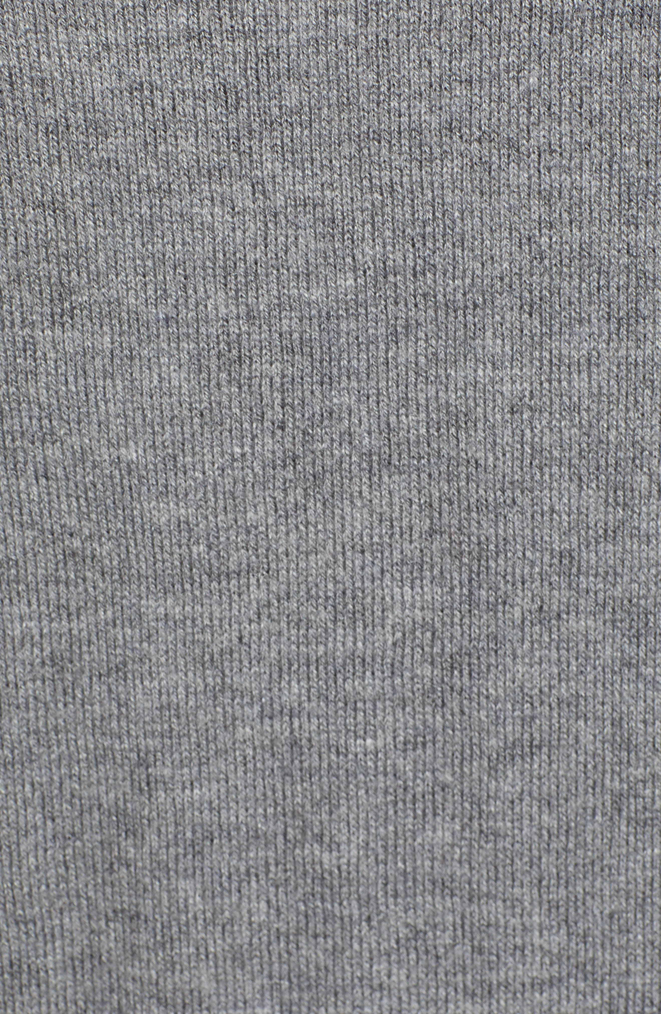 High/Low Cotton Blend Sweater,                             Alternate thumbnail 5, color,                             HG- HEATHER GREY