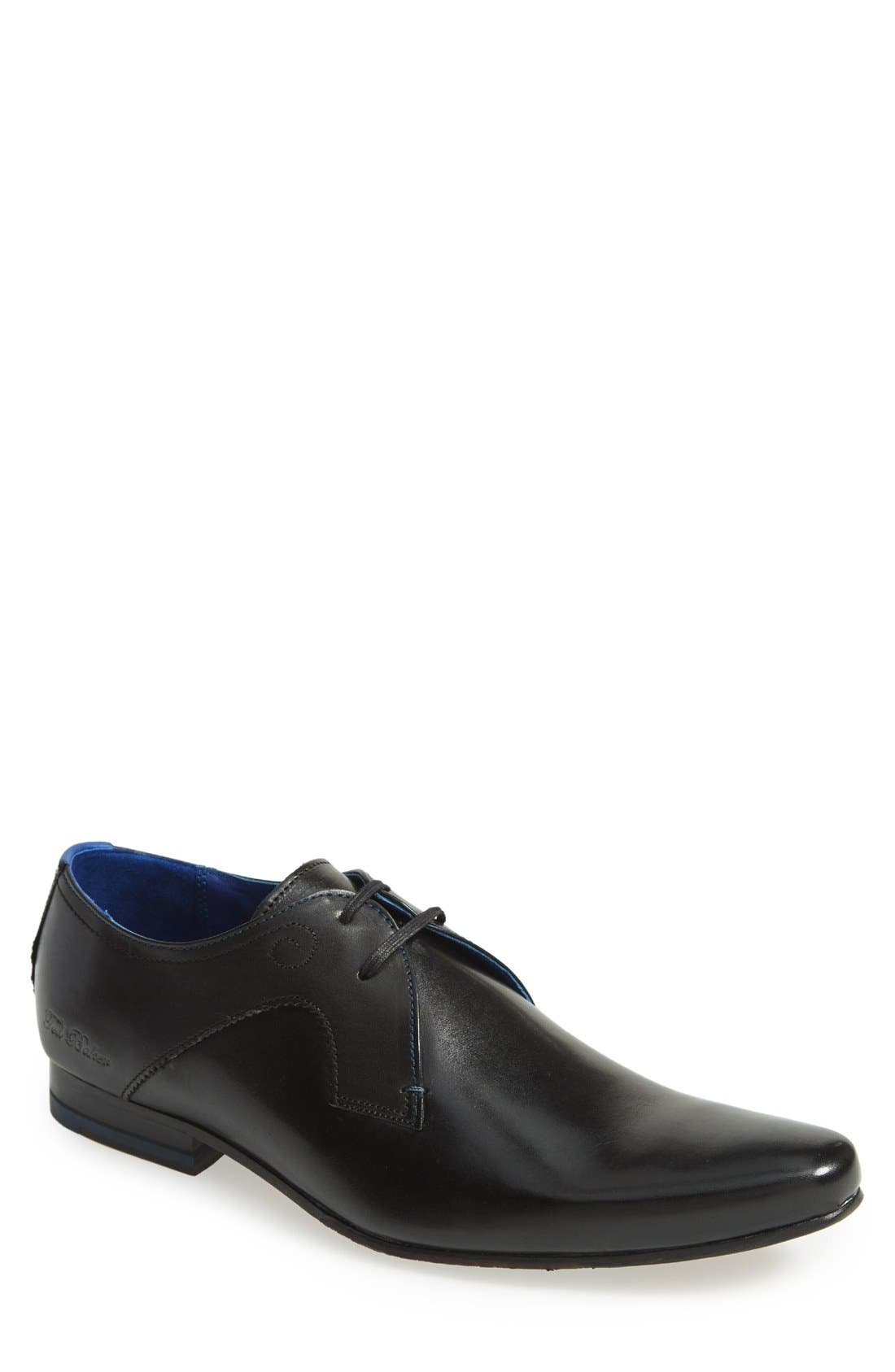 'Martt' Plain Toe Derby, Main, color, 001