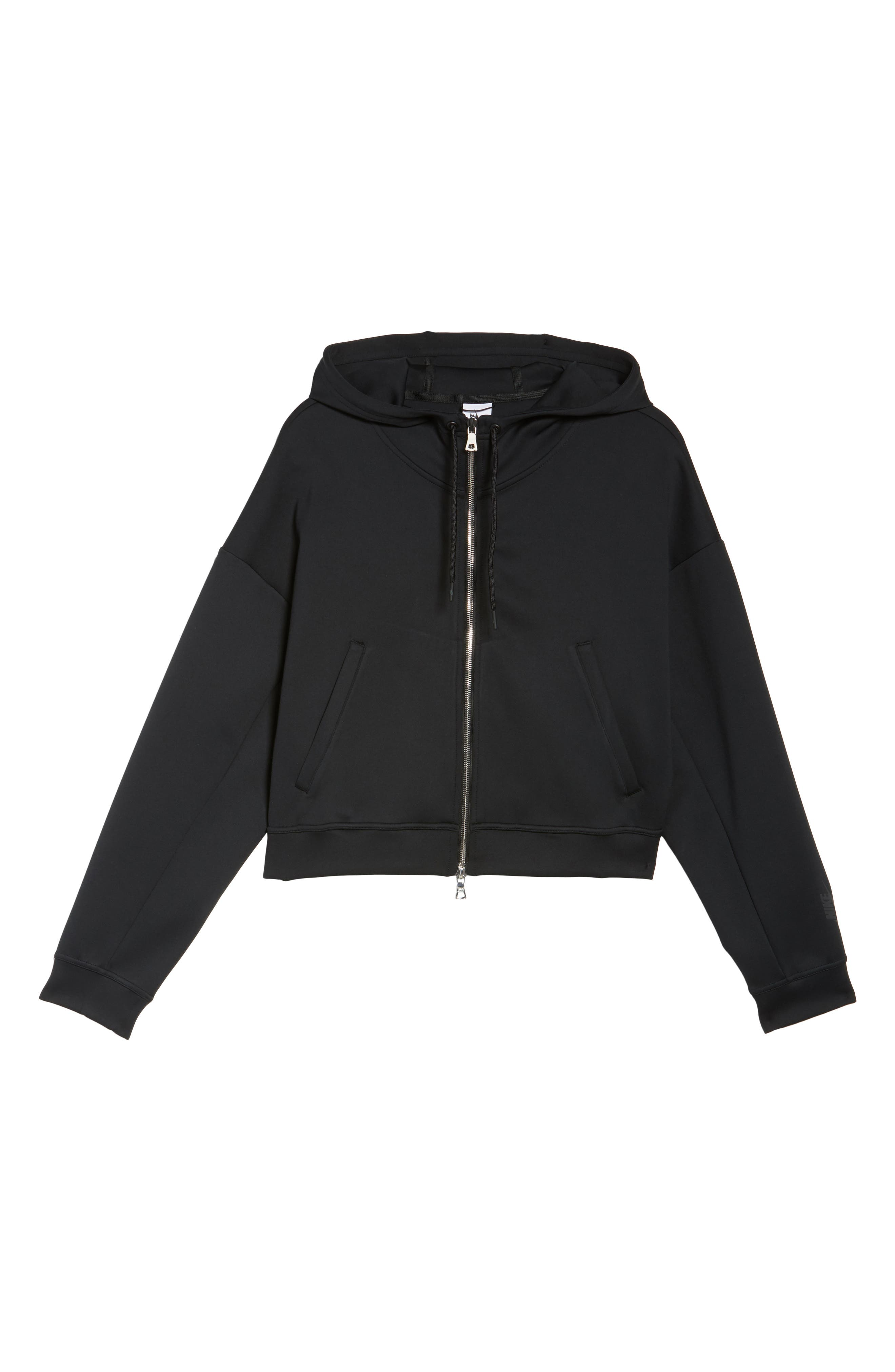 Essential Cropped Hoodie,                             Alternate thumbnail 7, color,                             010
