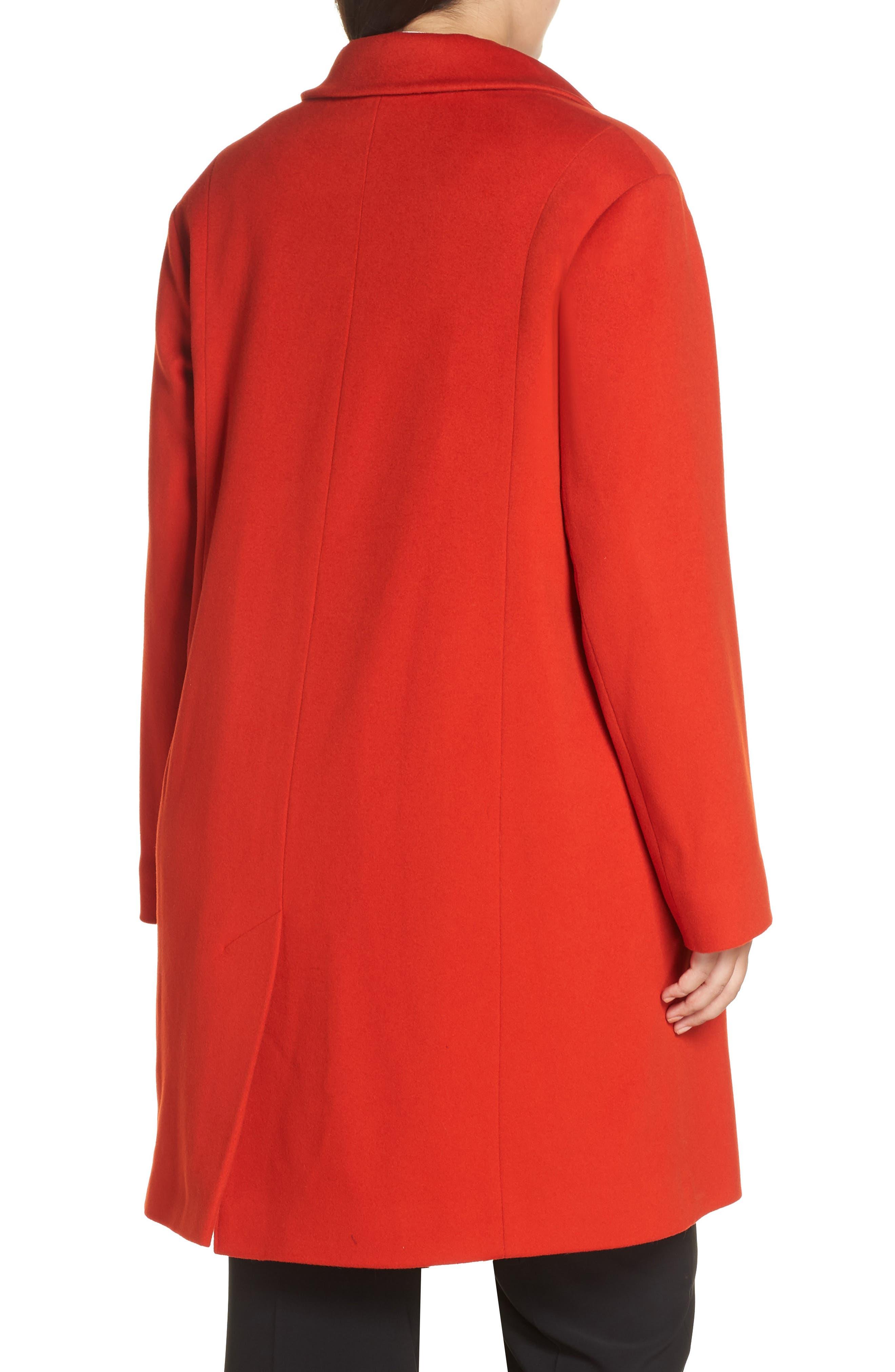 FLEURETTE,                             Loro Piana Wool Long Coat,                             Alternate thumbnail 2, color,                             SAFFRON