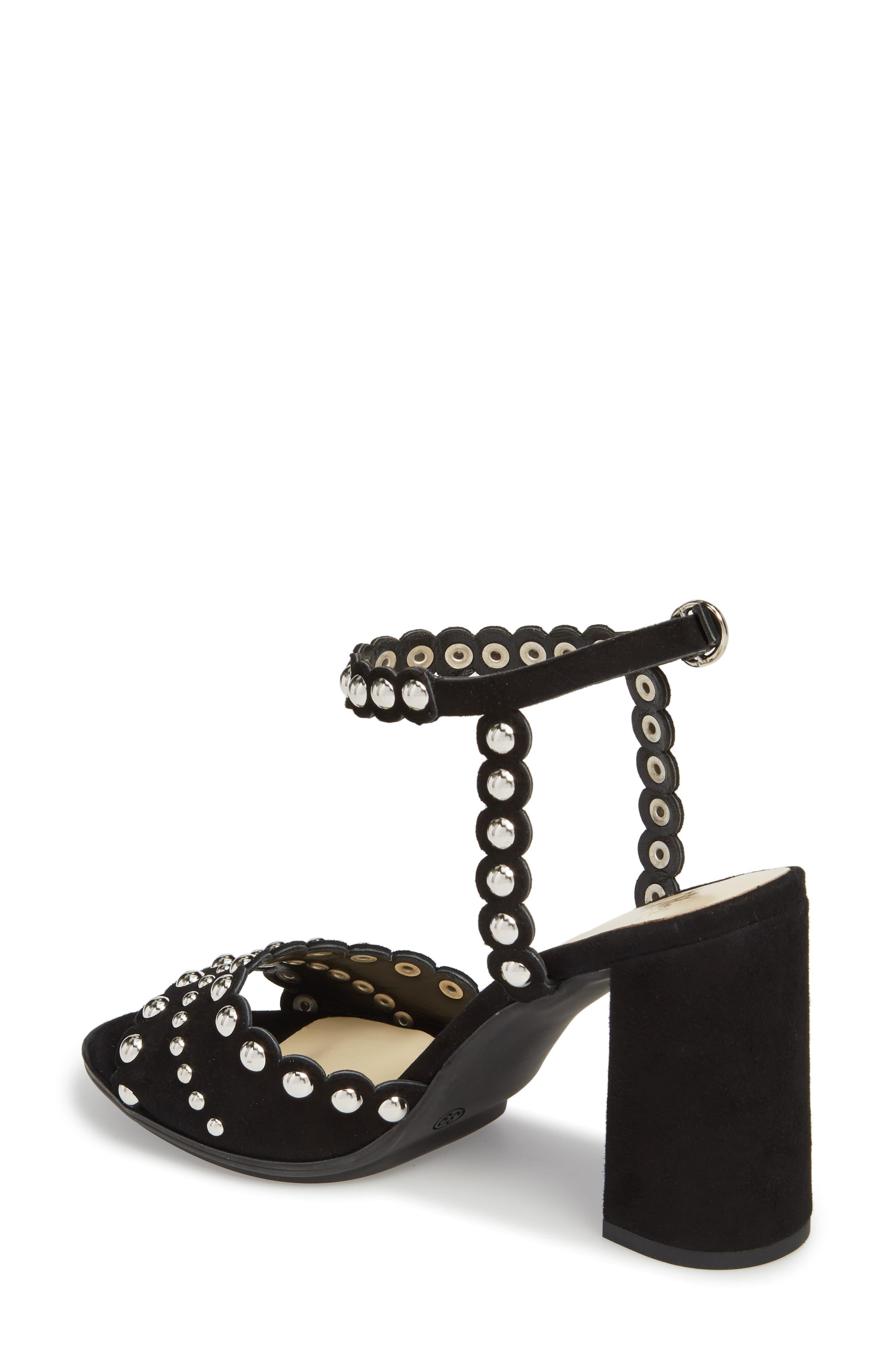 Butter Hetty Studded Ankle Strap Sandal,                             Alternate thumbnail 2, color,                             001