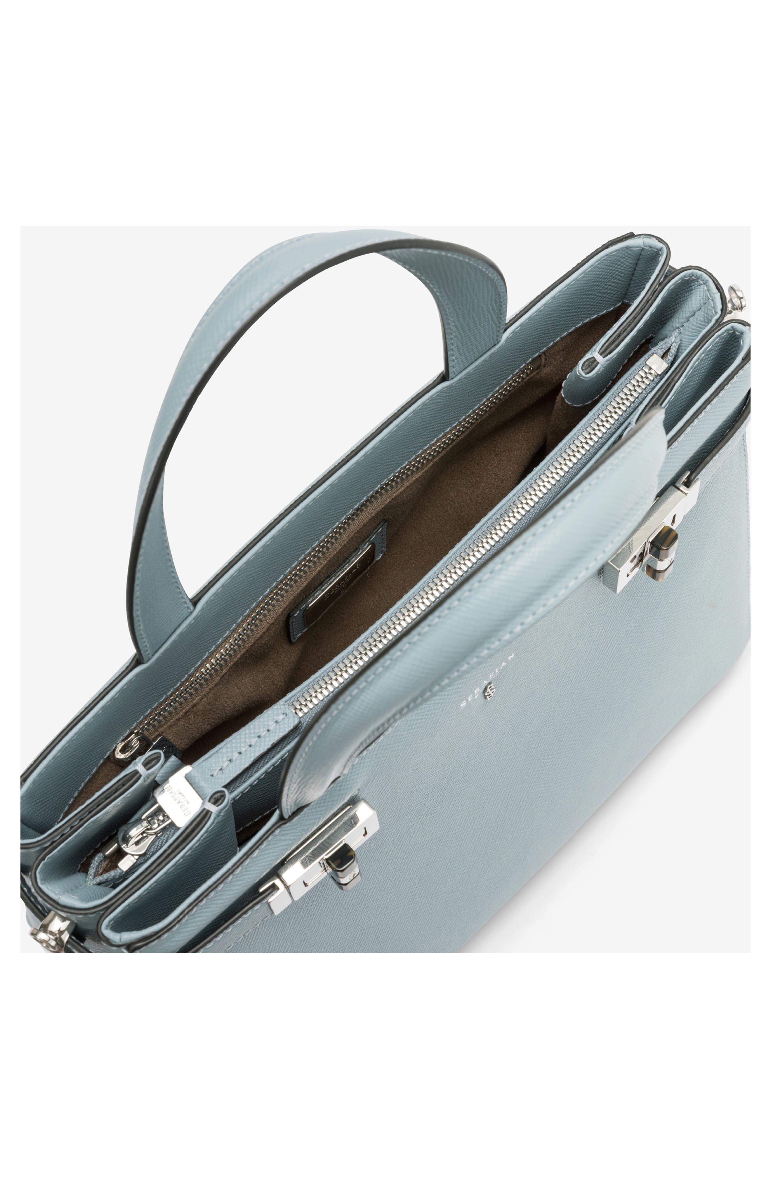 Small Meline Evolution Leather Bag,                             Alternate thumbnail 12, color,