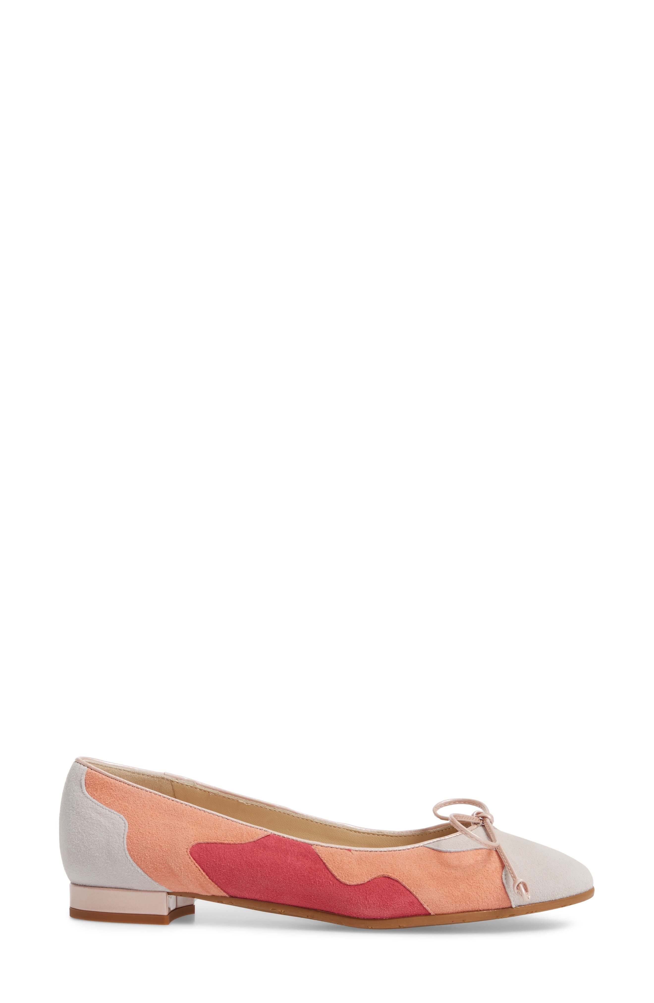 Ginevra Flat,                             Alternate thumbnail 3, color,                             BEIGE SUEDE