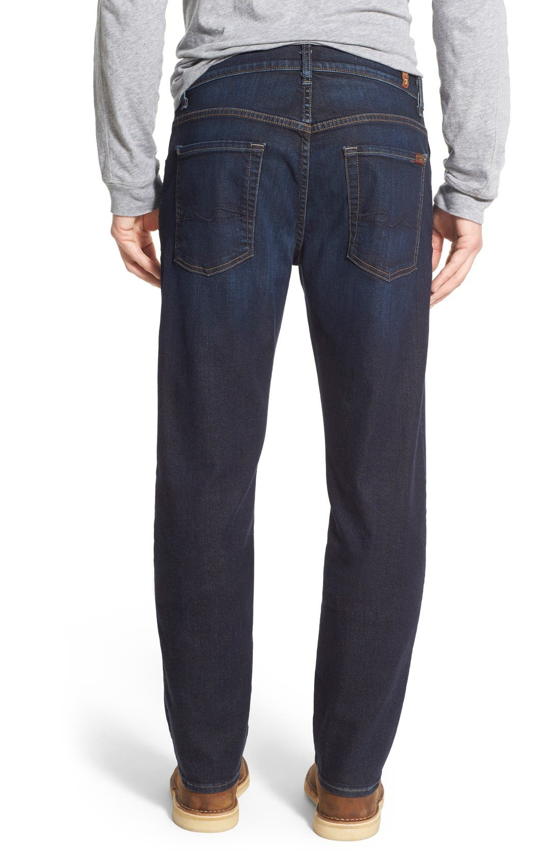 7 FOR ALL MANKIND<SUP>®</SUP>,                             'Straight' Slim Straight Leg Jeans,                             Alternate thumbnail 4, color,                             400