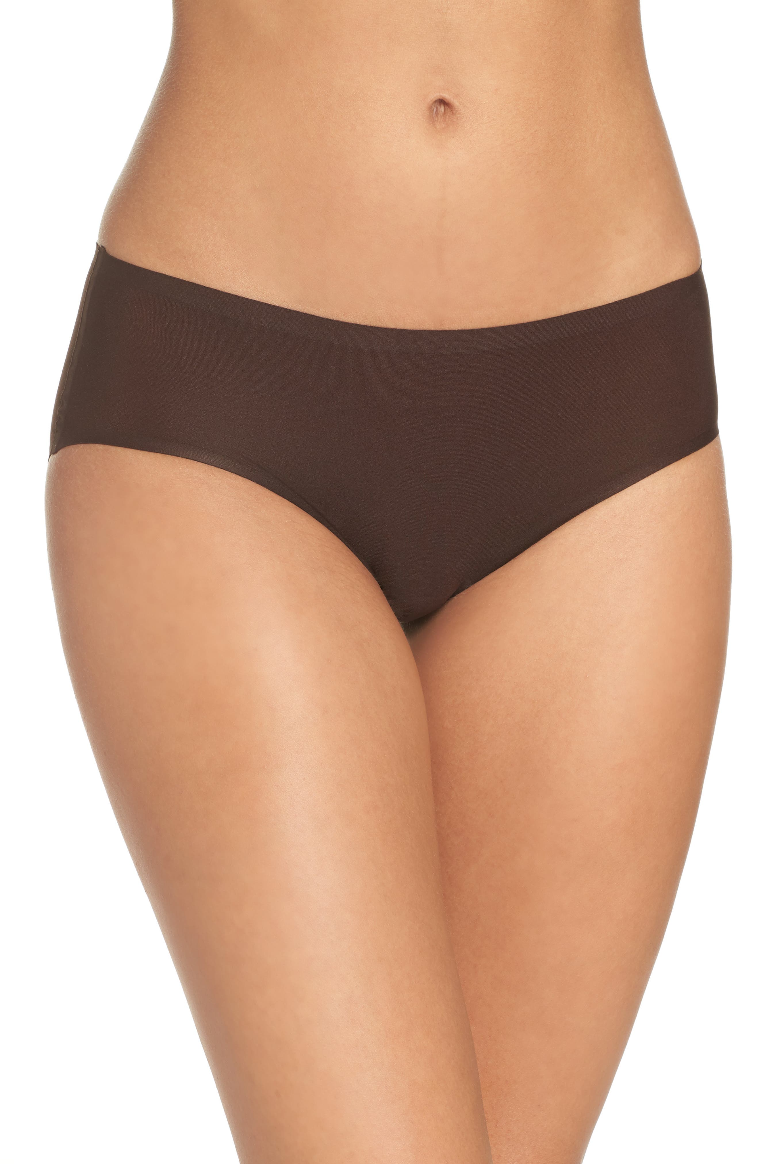 Soft Stretch Seamless Hipster Panties,                         Main,                         color, BROWN