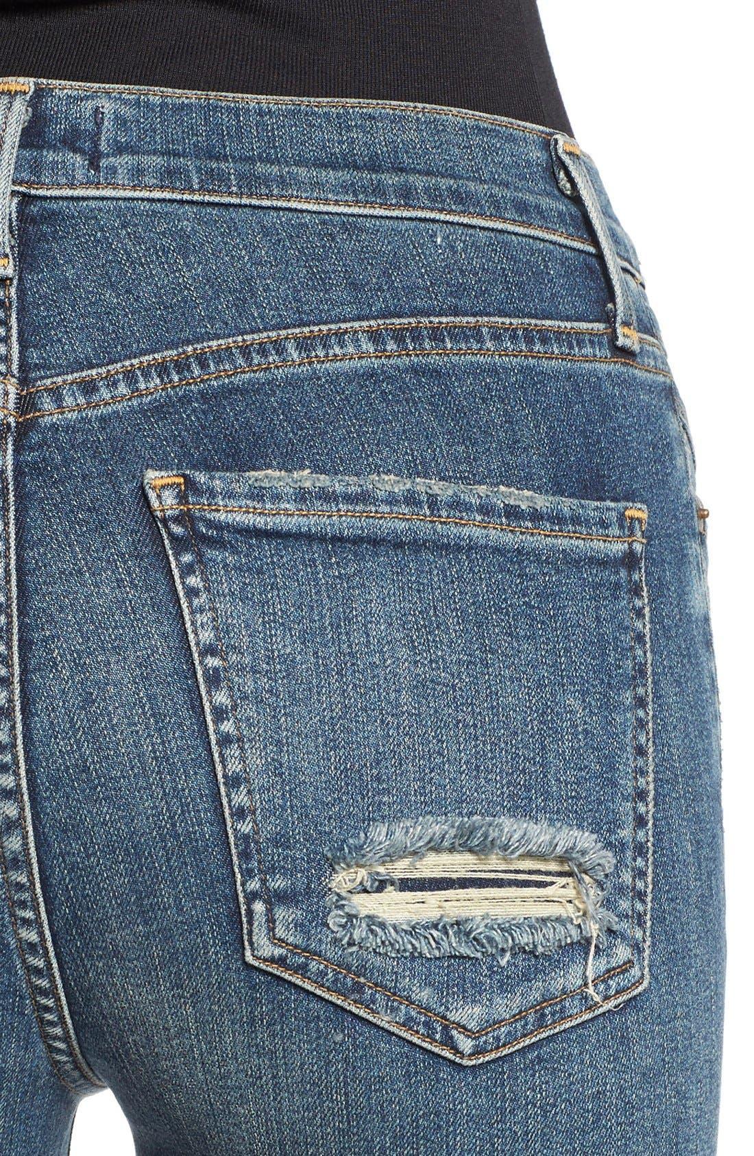 'Sophie' High Rise Skinny Jeans,                             Alternate thumbnail 4, color,                             KANSAS CITY