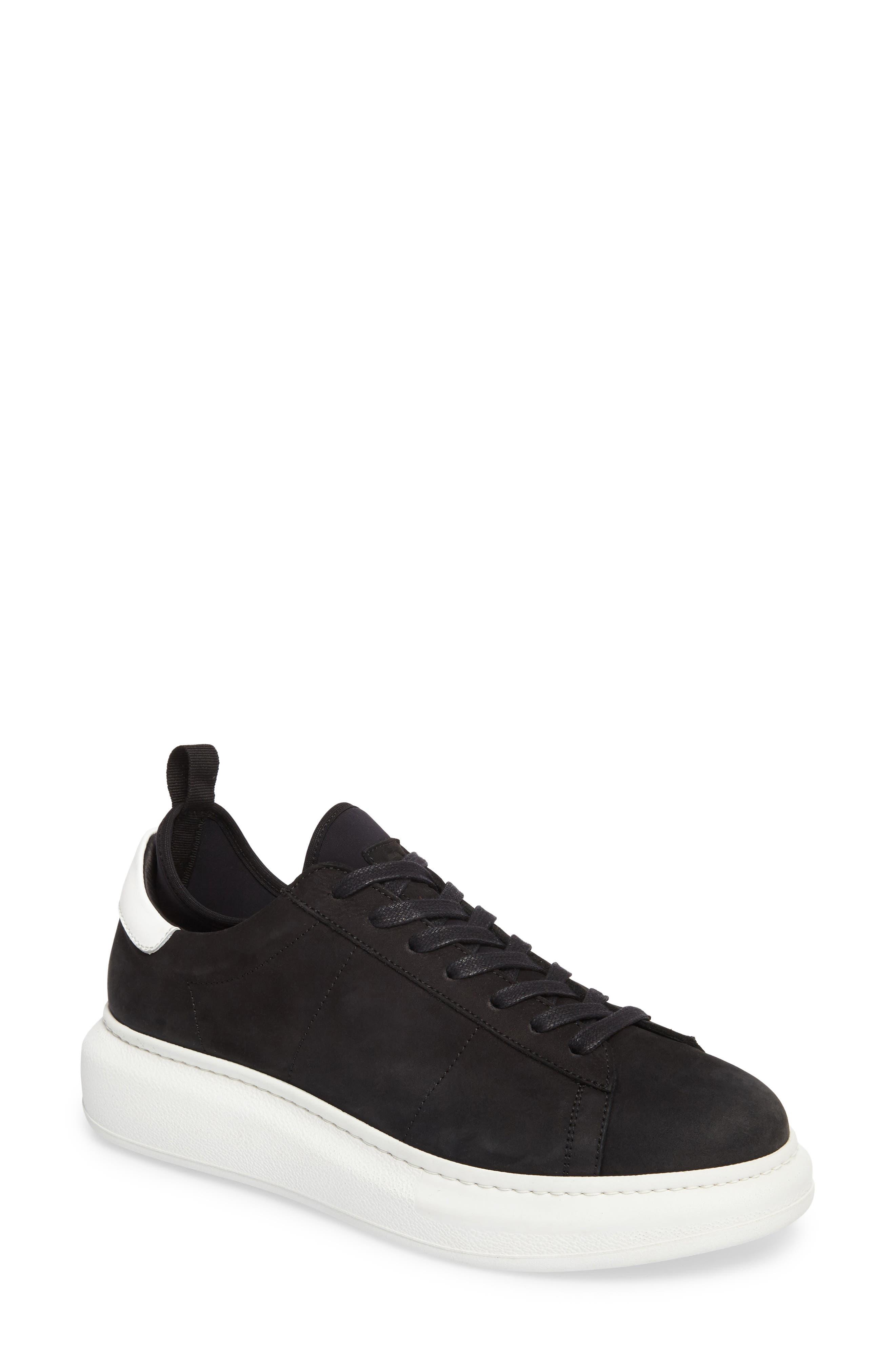 Alta Low Top Sneaker,                             Main thumbnail 1, color,                             BLACK NUBUCK LEATHER