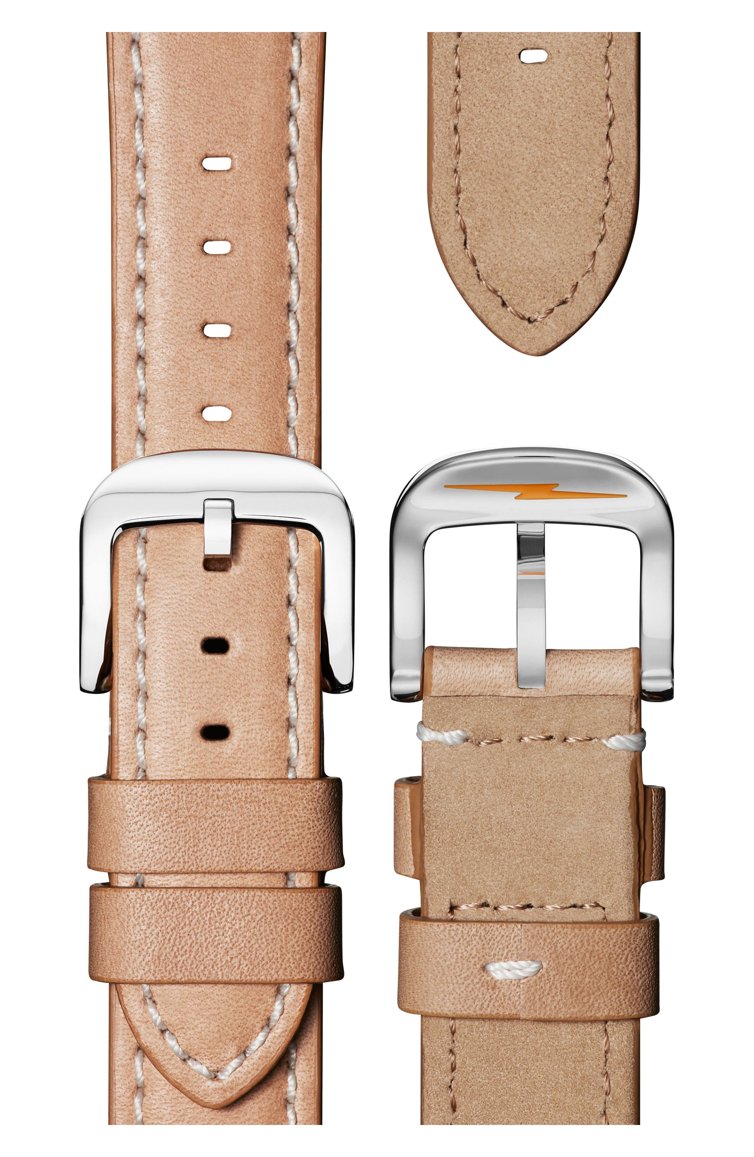 The Guardian Leather Strap Watch, 36mm,                             Alternate thumbnail 4, color,                             NATURAL/ MOP/ ROSE GOLD