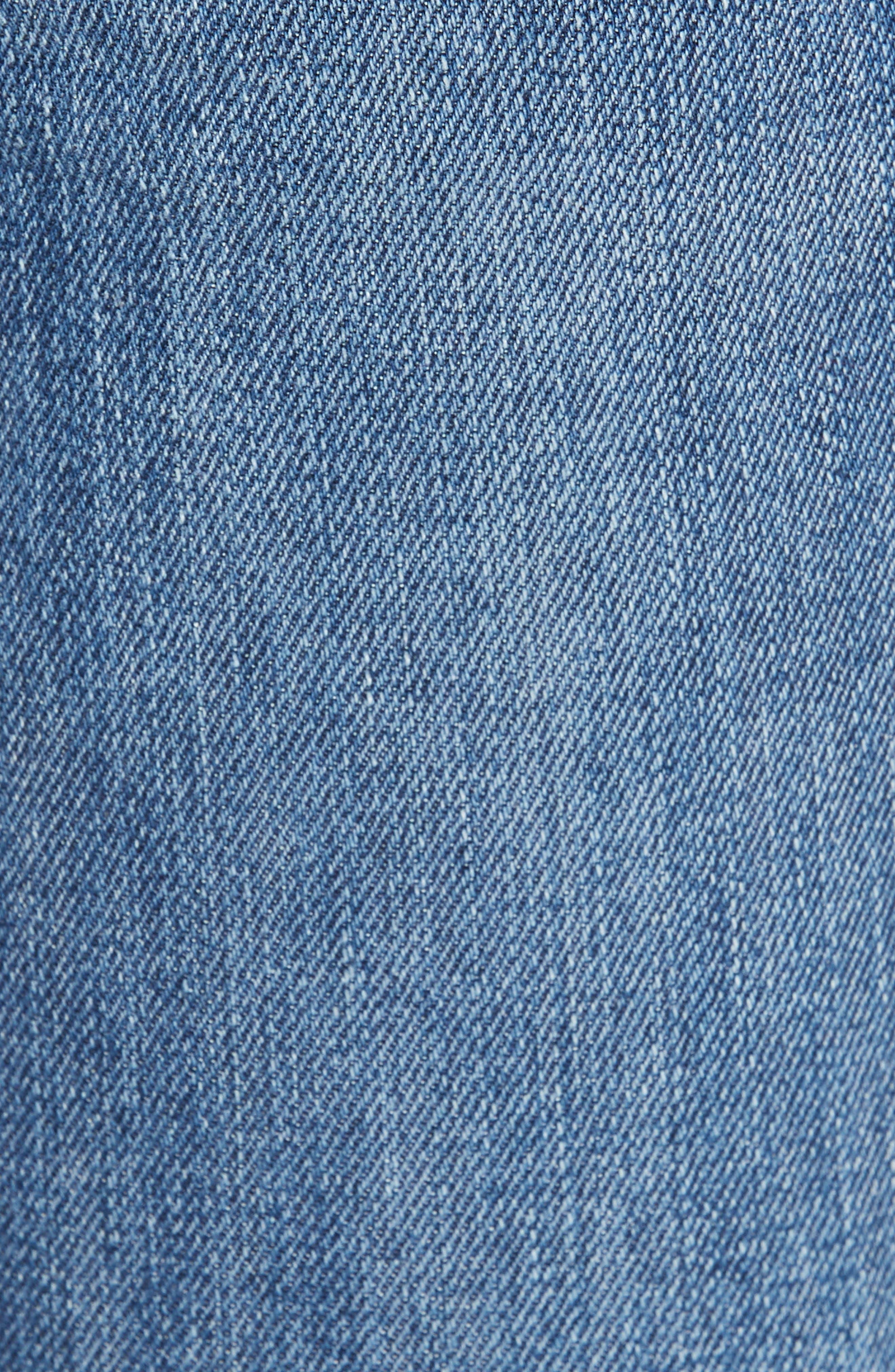 Raw Hem Ankle Skinny Jeans,                             Alternate thumbnail 6, color,                             BLAIR