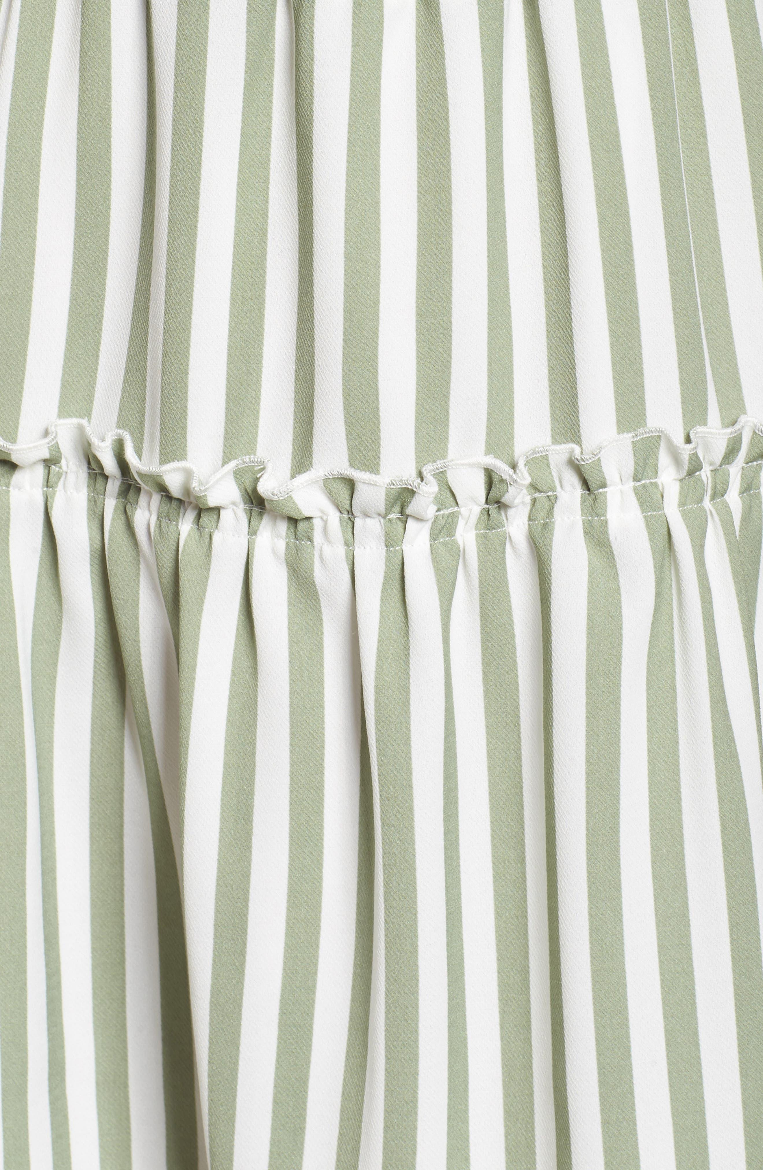 Lauren Stripe Sleeveless Fit & Flare Dress,                             Alternate thumbnail 5, color,                             341