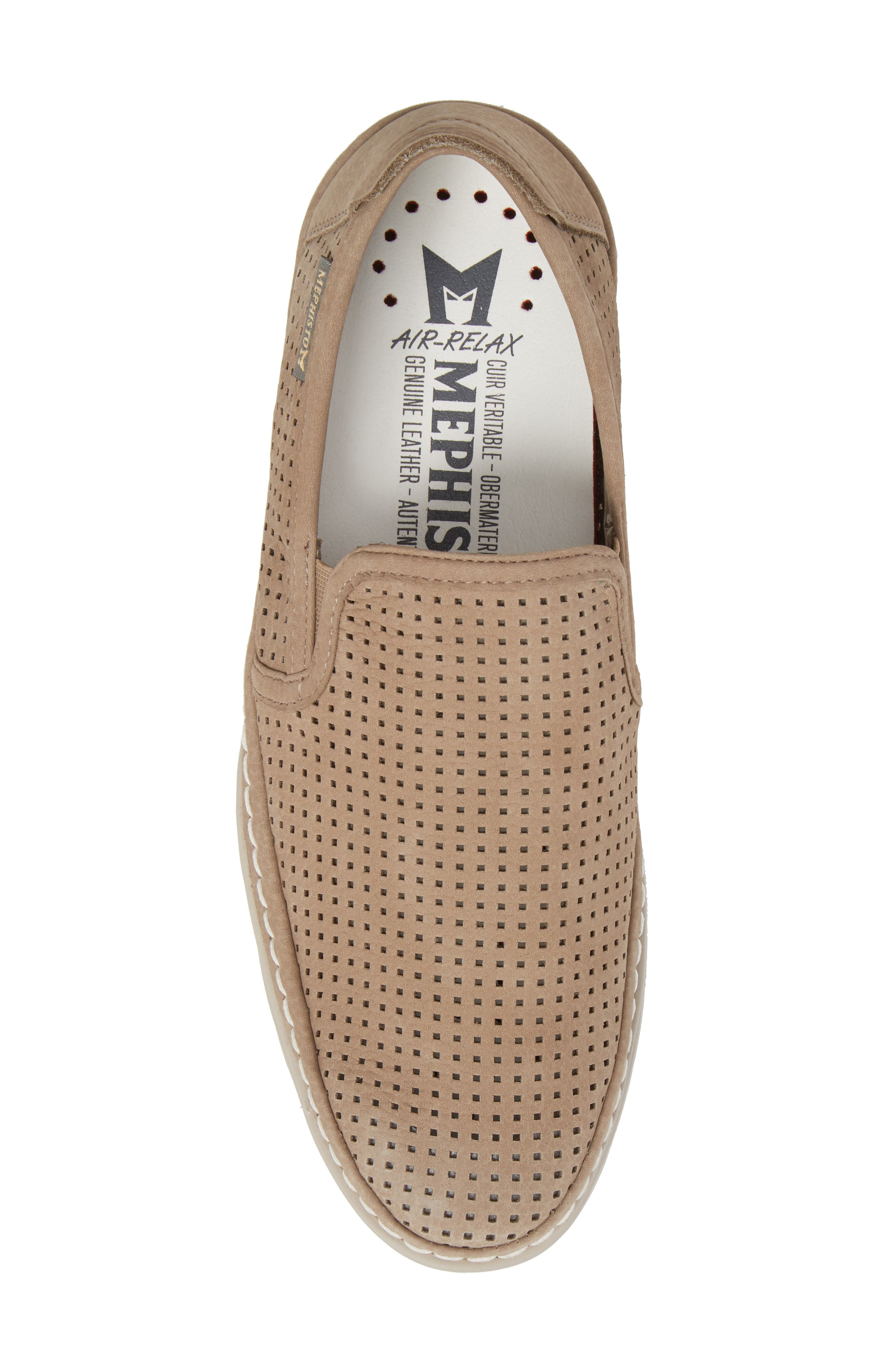 Hadrian Perforated Slip-On,                             Alternate thumbnail 5, color,                             SAND