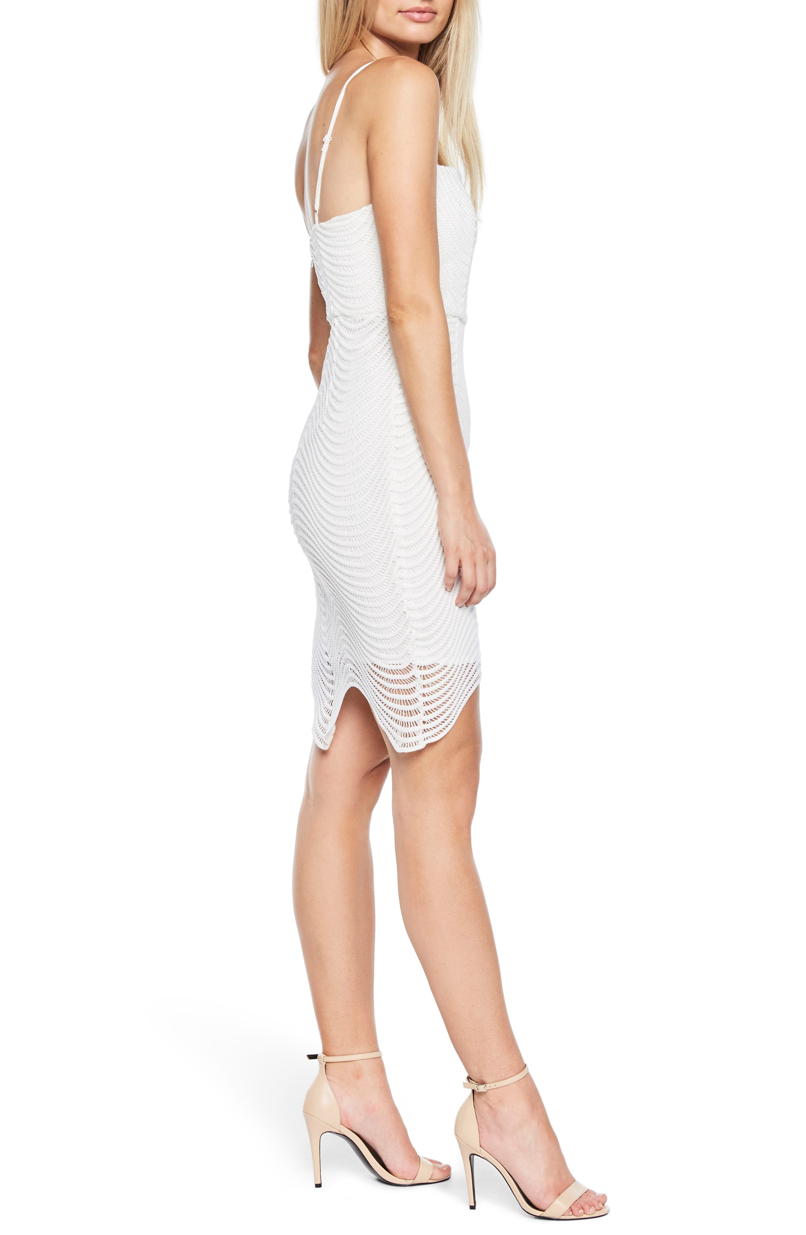 Spiral Lace Dress,                             Alternate thumbnail 3, color,                             IVORY