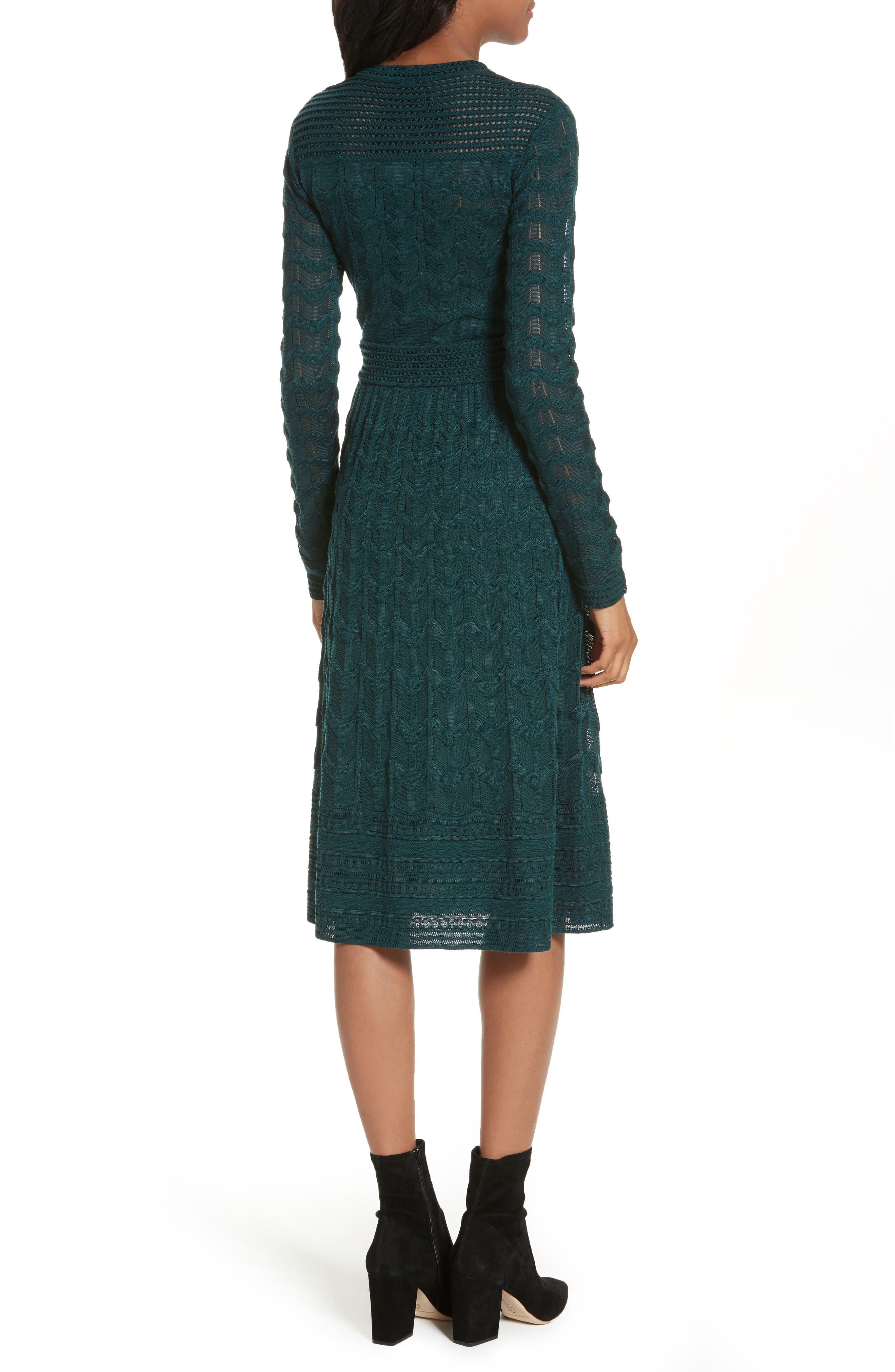 Mesh Detail A-Line Dress,                             Alternate thumbnail 2, color,                             440