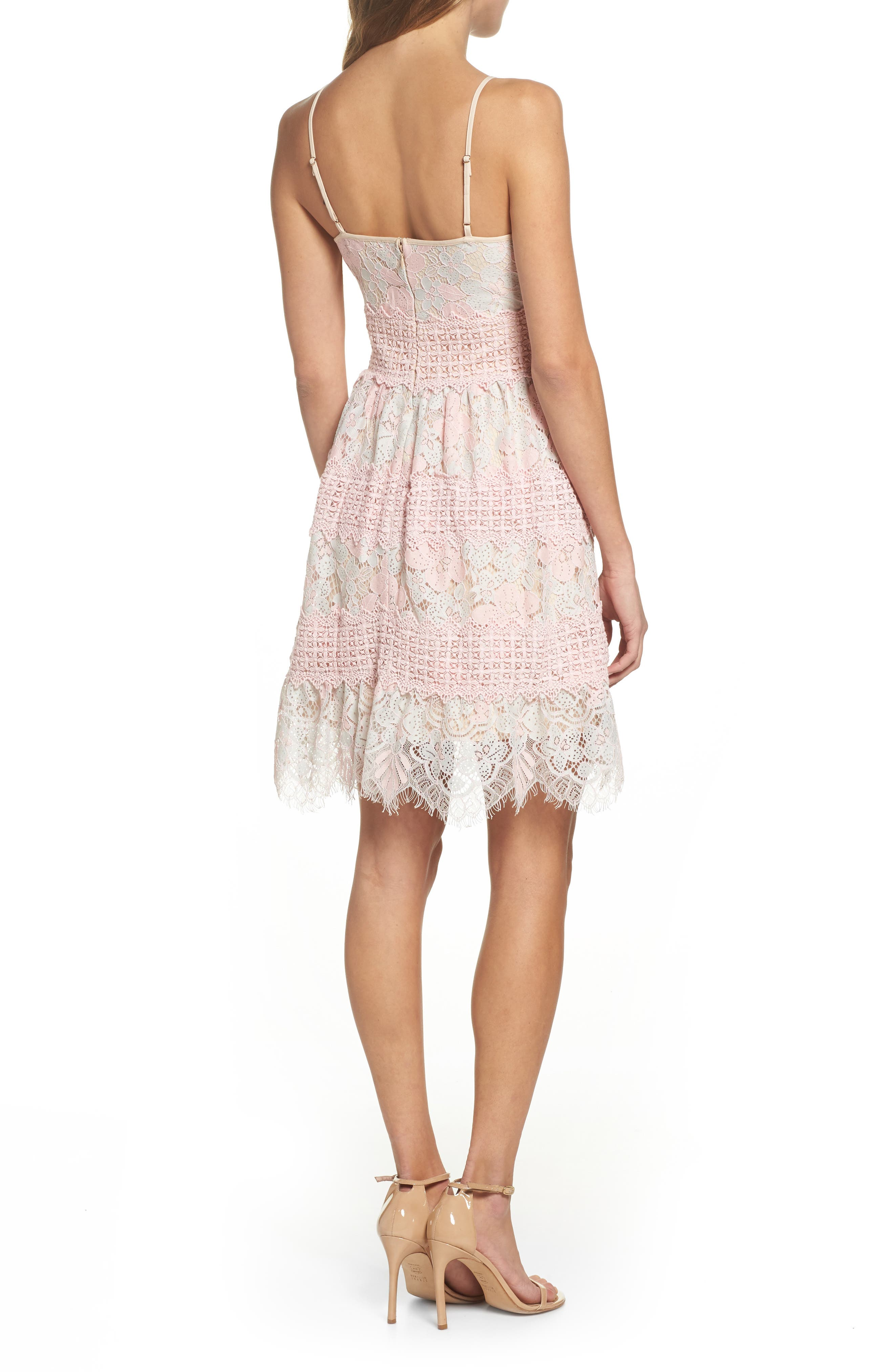 Tabitha Lace Minidress,                             Alternate thumbnail 2, color,