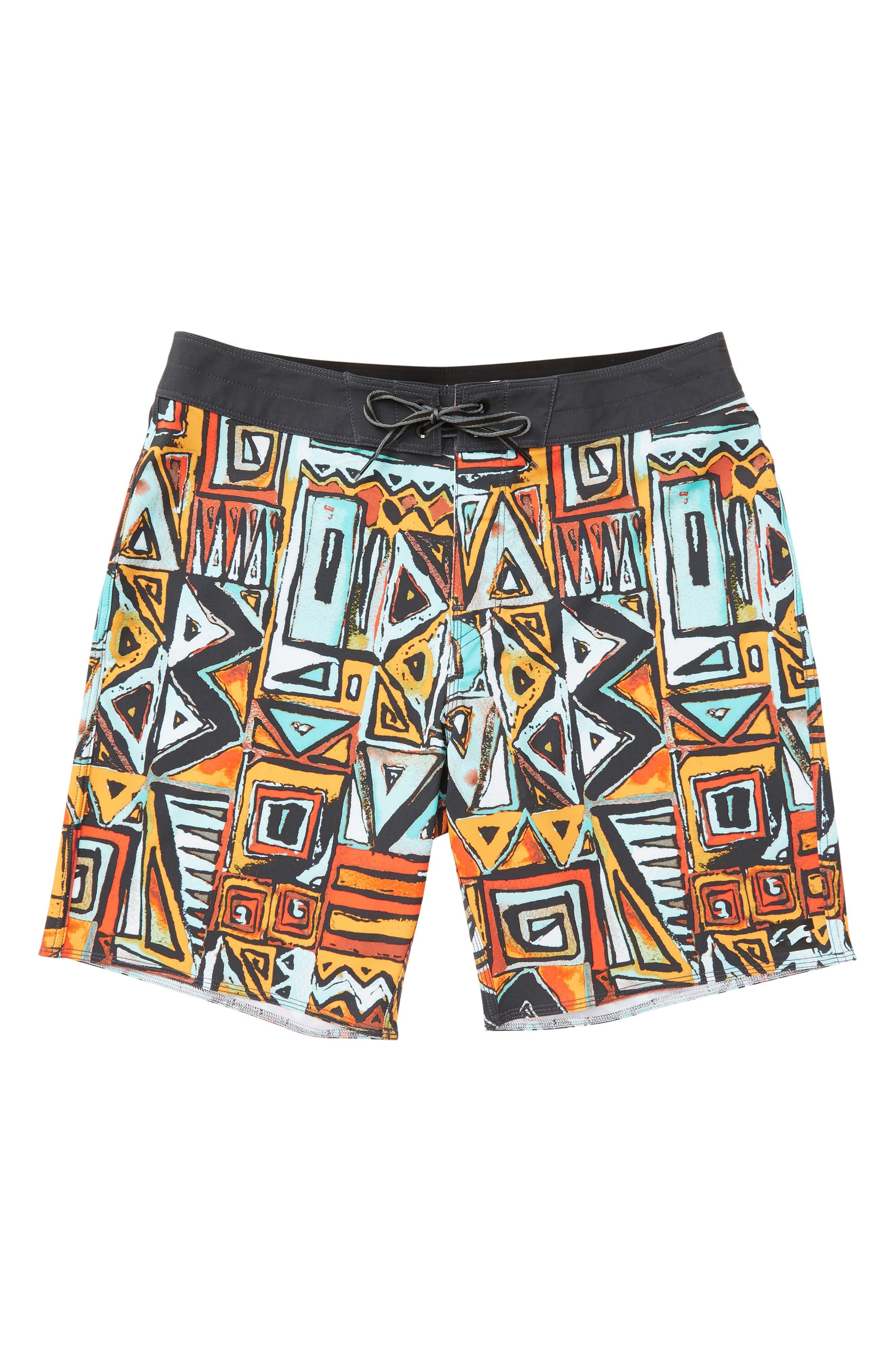 Sundays X Board Shorts,                             Main thumbnail 1, color,                             LAVA