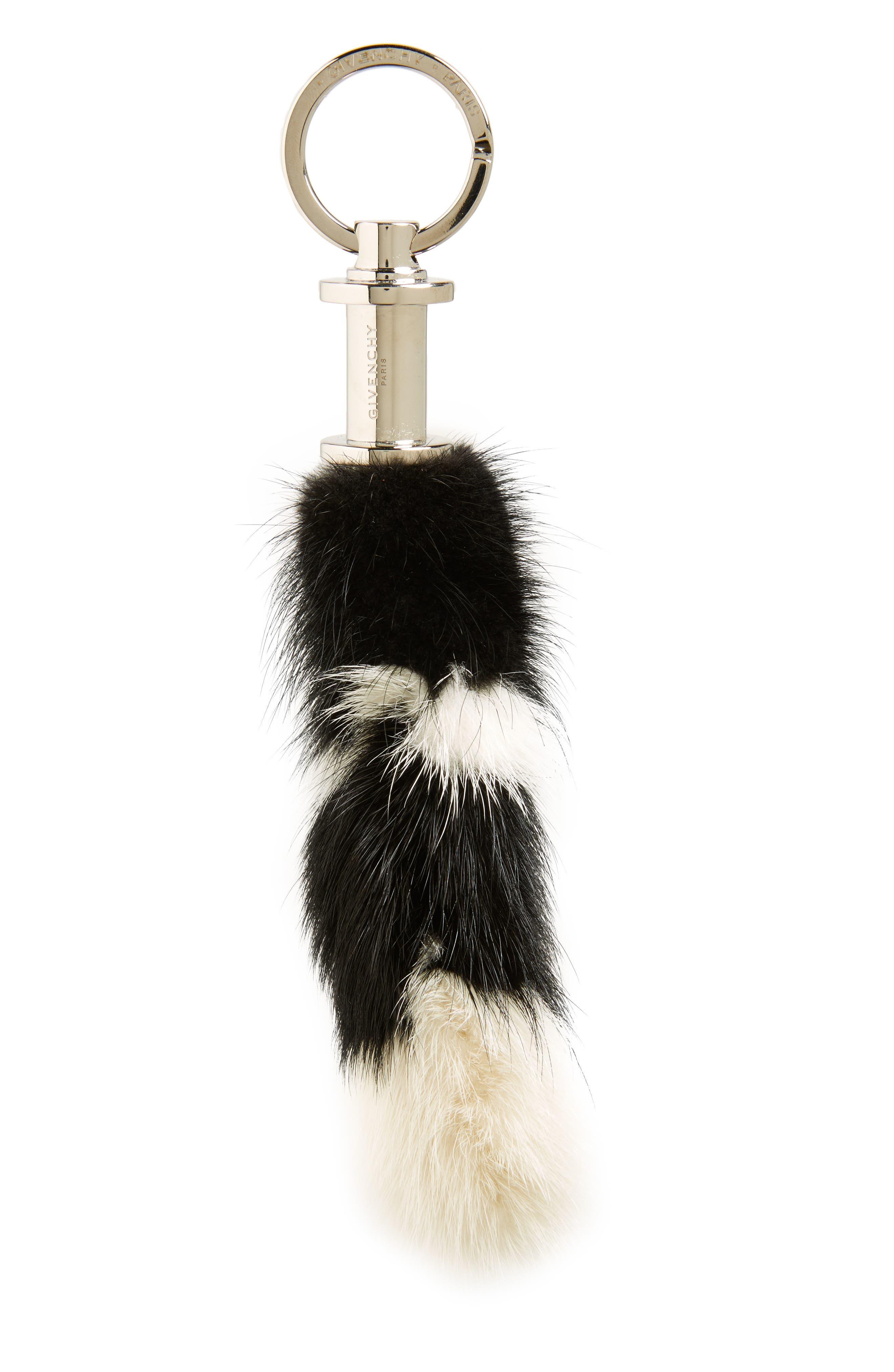 Genuine Mink Fur Bag Charm,                             Alternate thumbnail 2, color,                             004