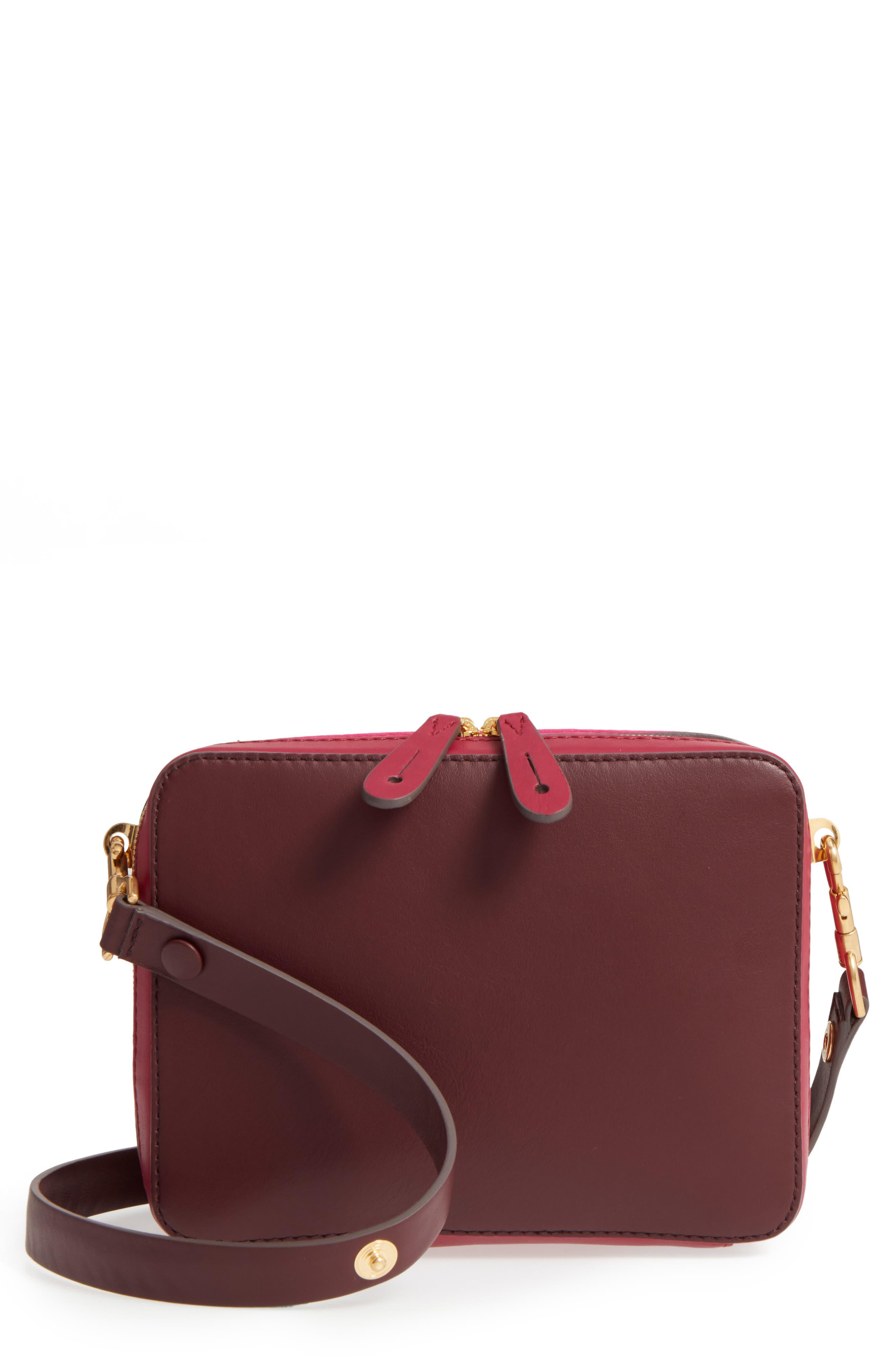 The Stack Leather Crossbody Bag,                             Main thumbnail 2, color,