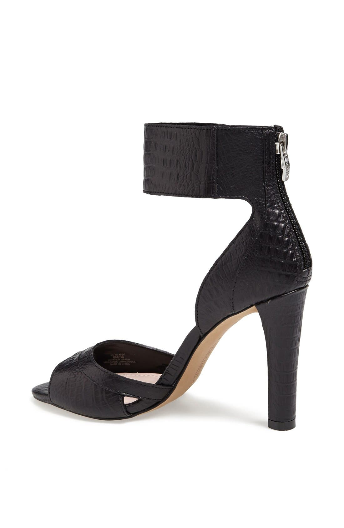'Oljera' Leather Sandal,                             Alternate thumbnail 3, color,                             001