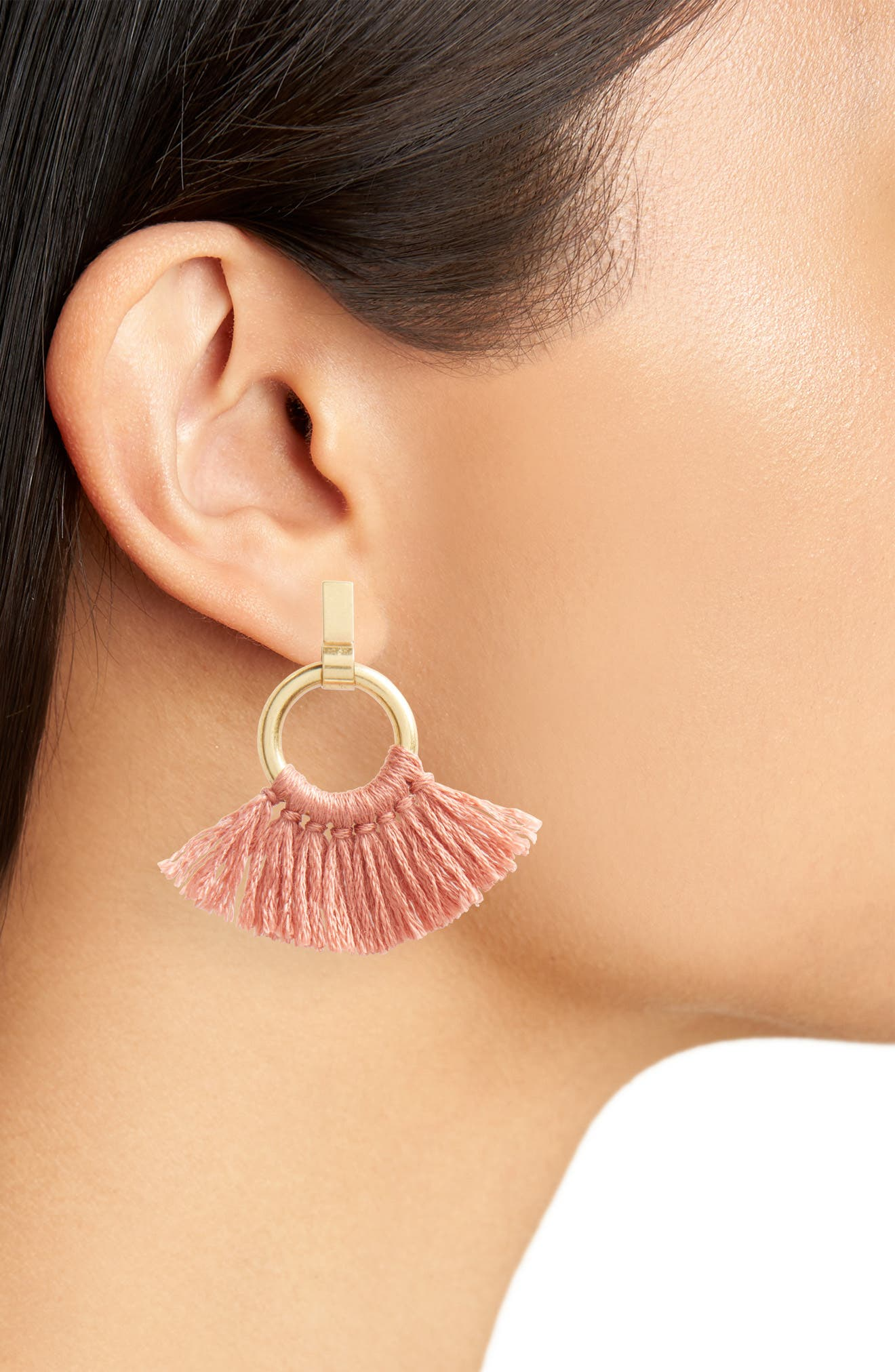 Tassel Wrap Hoop Earrings,                             Alternate thumbnail 2, color,                             710