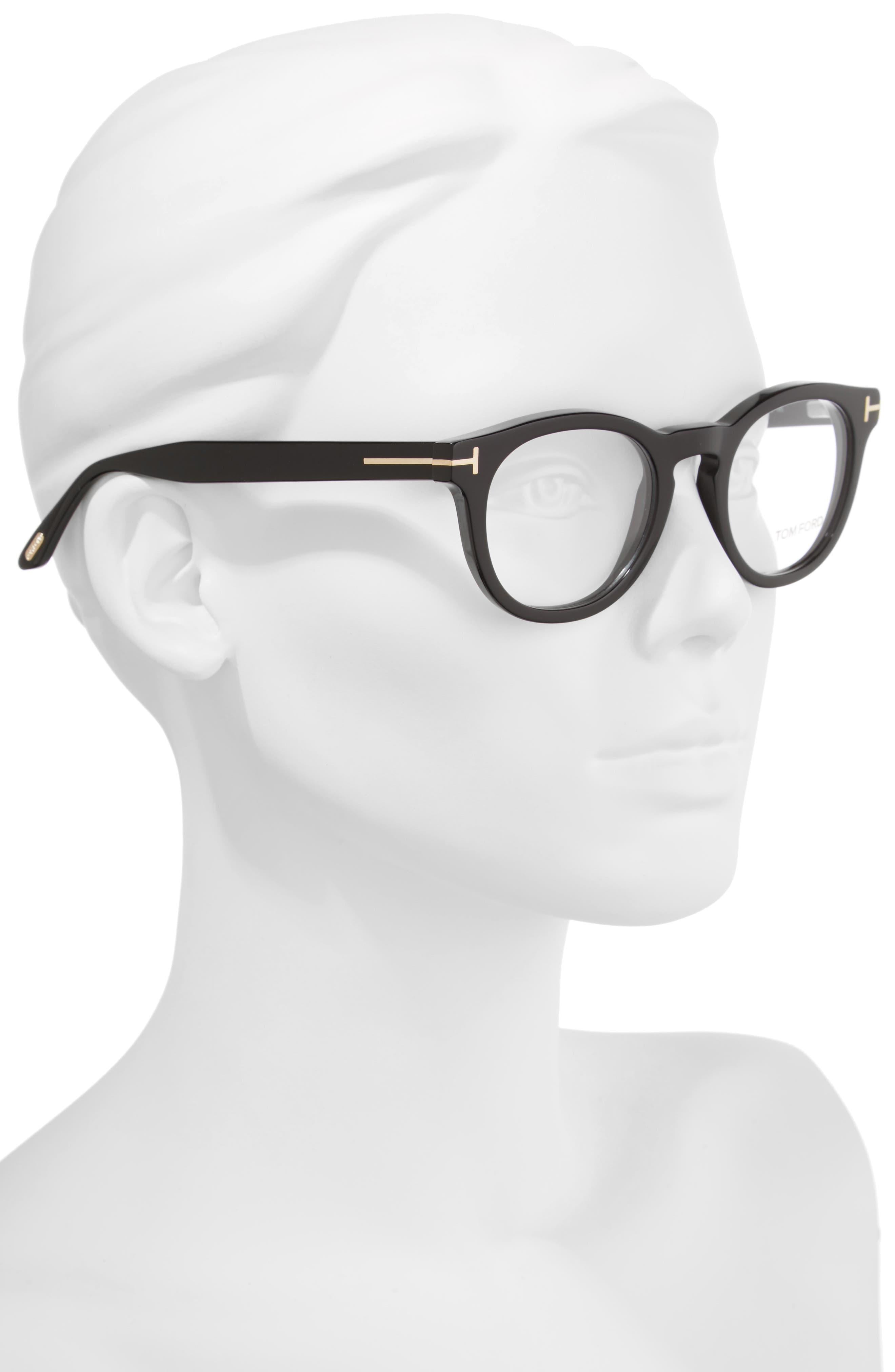 48mm Round Optical Glasses,                             Alternate thumbnail 2, color,                             001