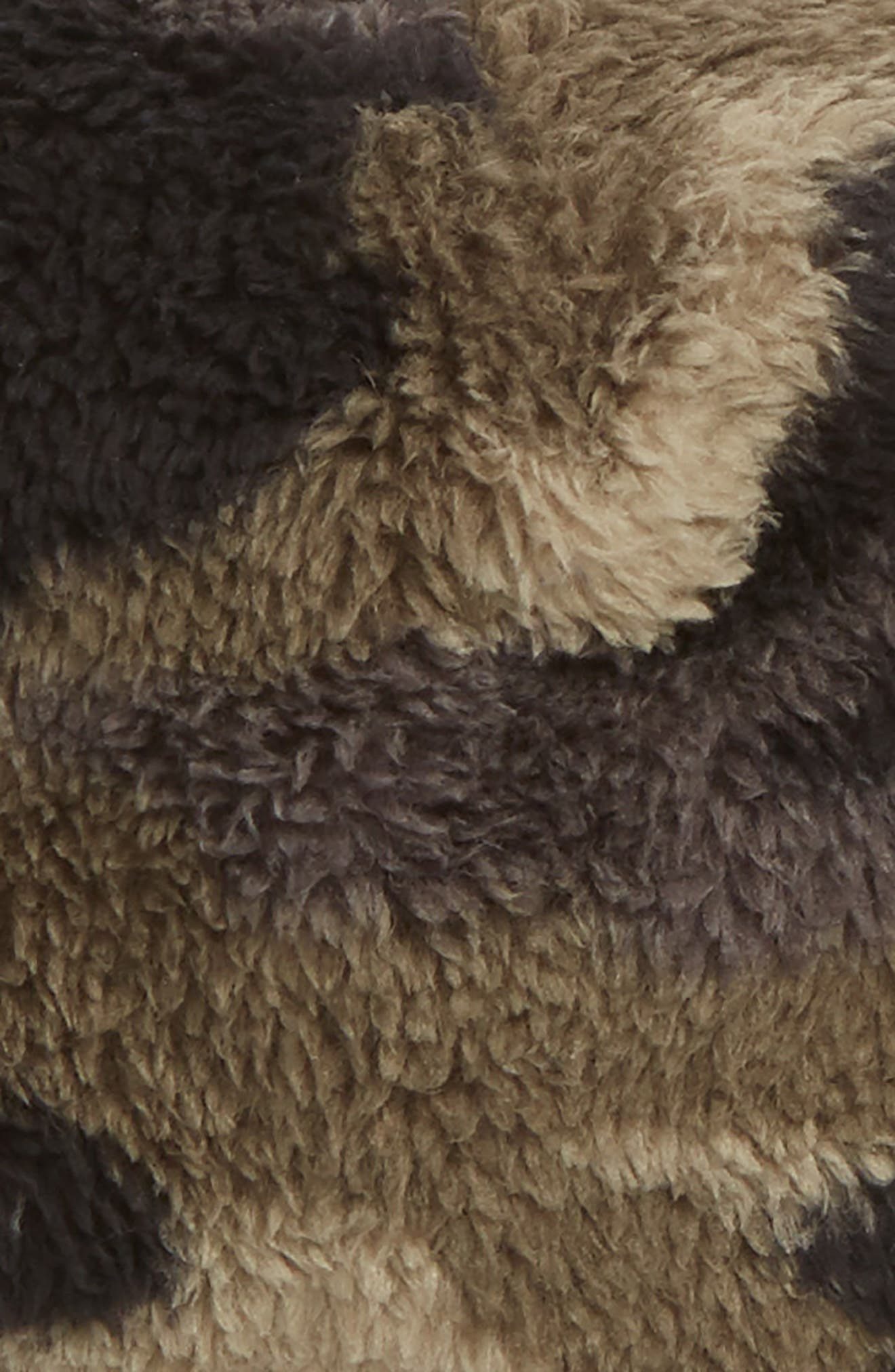 Baby Bear Faux Fur Beanie,                             Alternate thumbnail 2, color,                             GREEN CAMO/ PERSIAN ORANGE