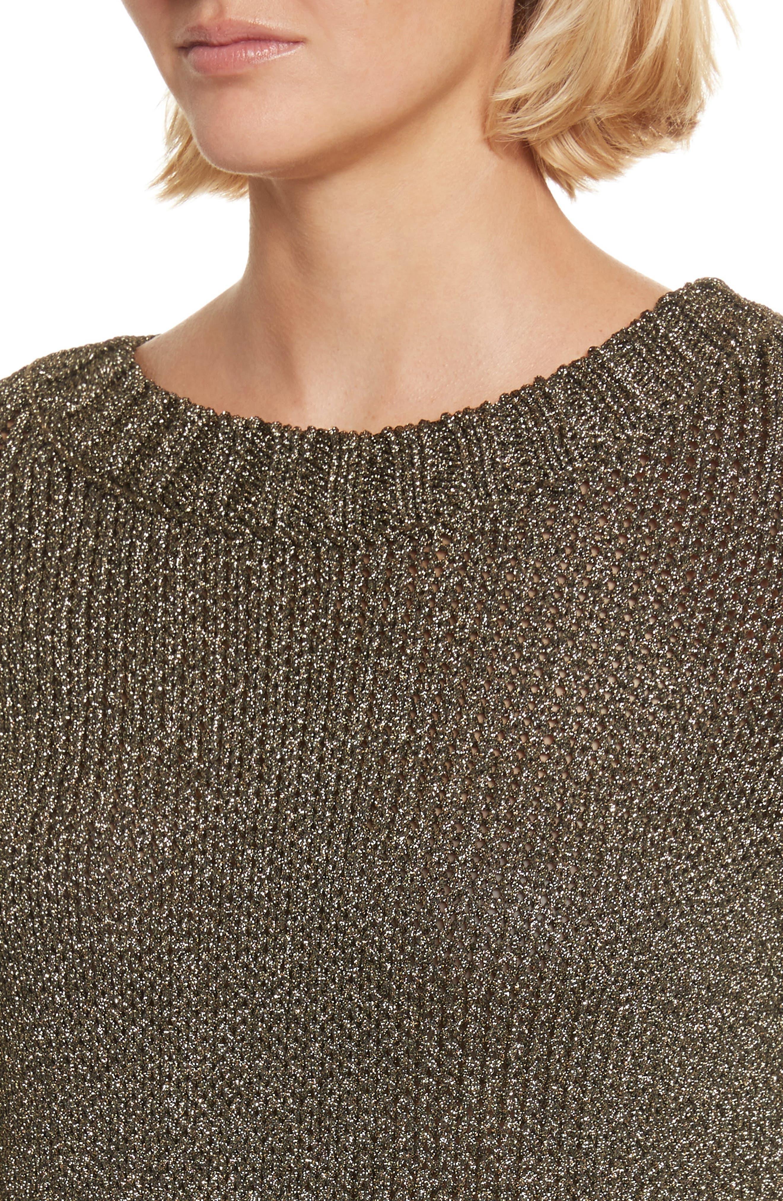 Marjorie Lace-Up Back Sweater,                             Alternate thumbnail 4, color,                             010