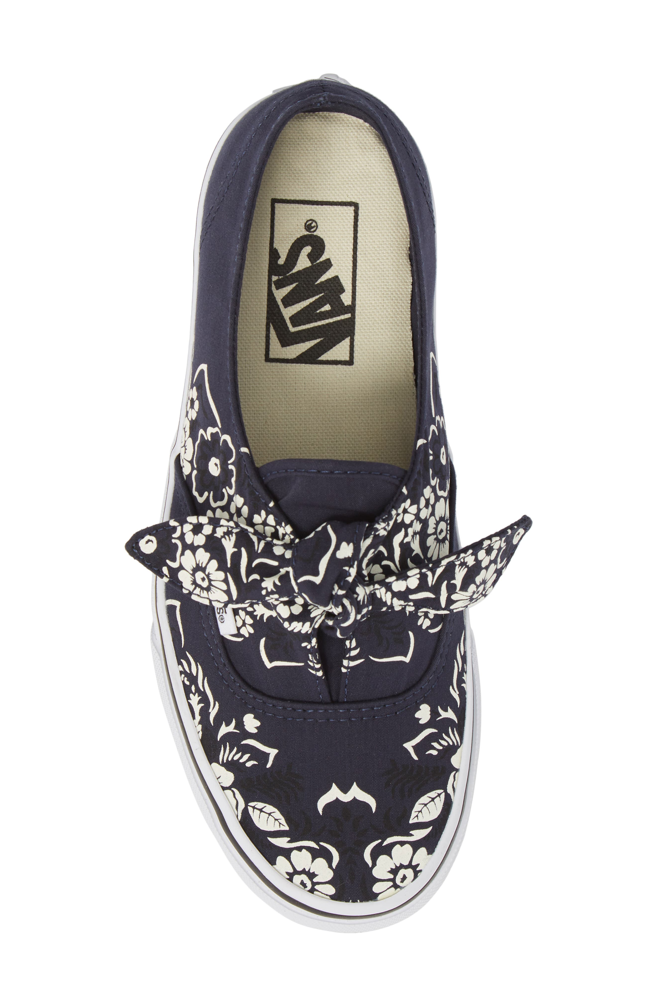 UA Authentic Knotted Floral Bandana Slip-On Sneaker,                             Alternate thumbnail 5, color,                             PARISIAN NIGHT/ TRUE WHITE