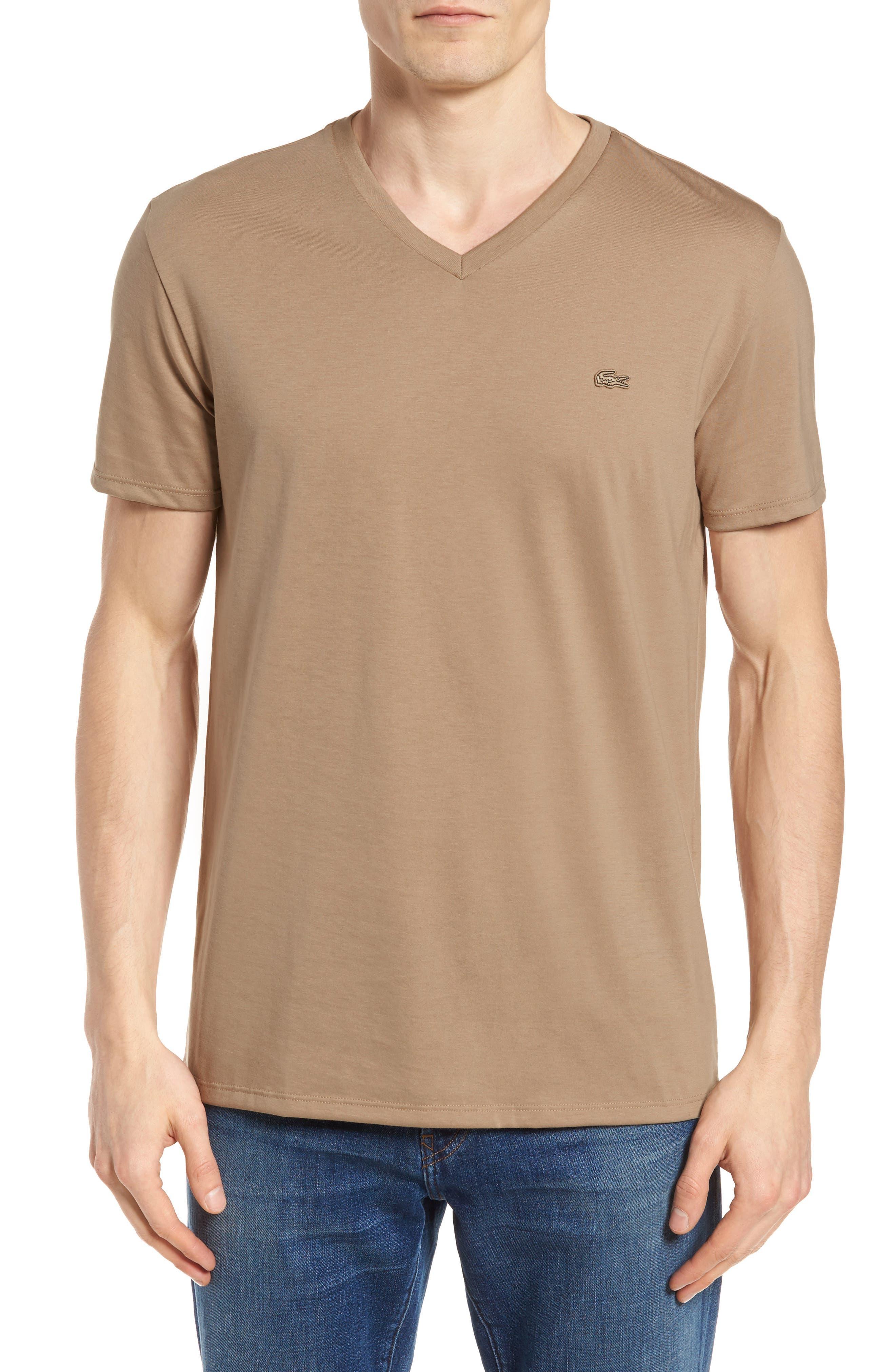 Pima Cotton T-Shirt,                         Main,                         color, KRAFT BEIGE