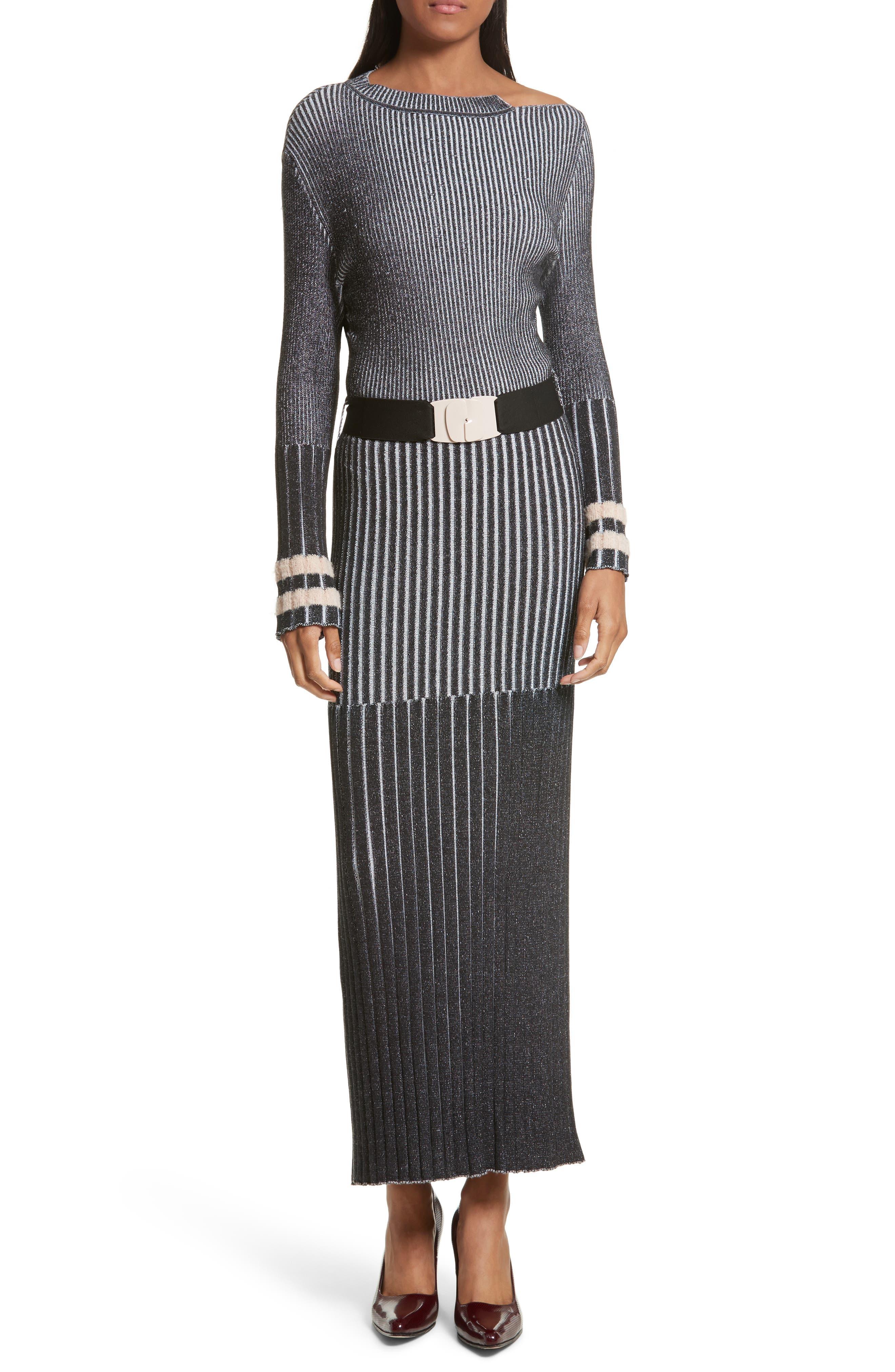 Urge Maxi Sweater Dress,                             Alternate thumbnail 5, color,                             001