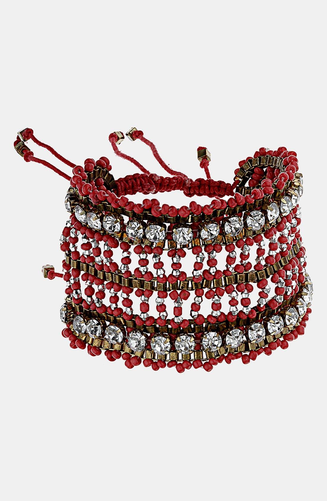 Beaded Crystal Bracelet,                             Main thumbnail 1, color,