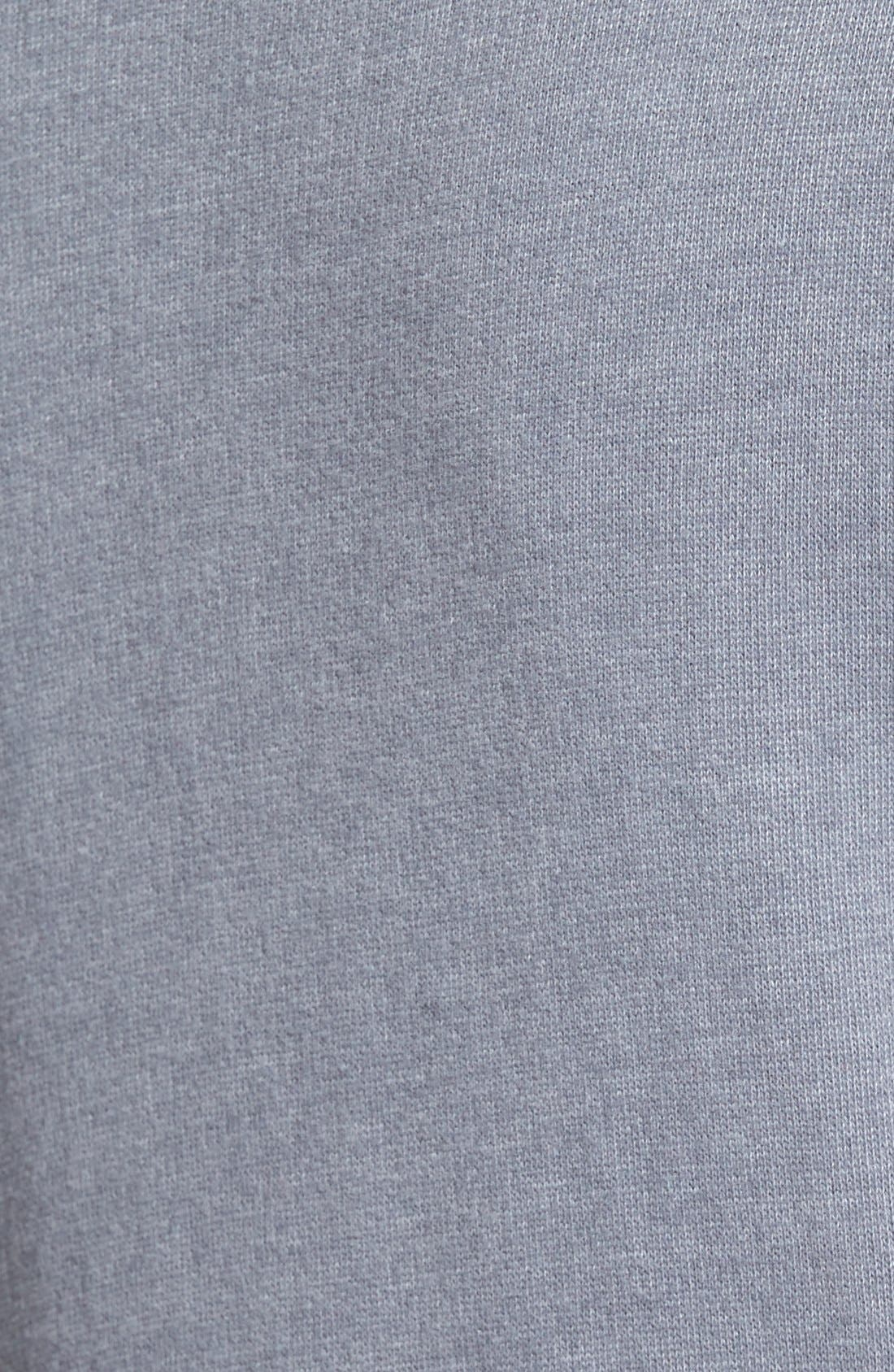 Asymmetrical Drape Collar Terry Jacket,                             Alternate thumbnail 8, color,                             GREY