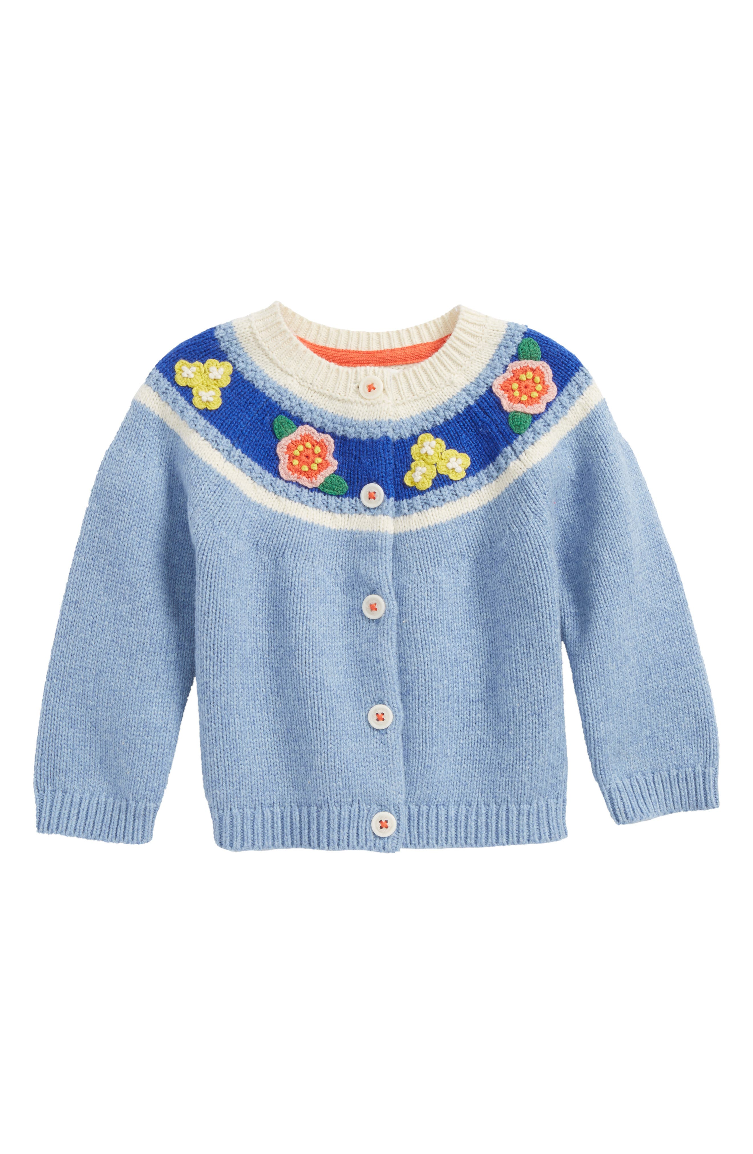 Crochet Flower Cardigan,                         Main,                         color, 424