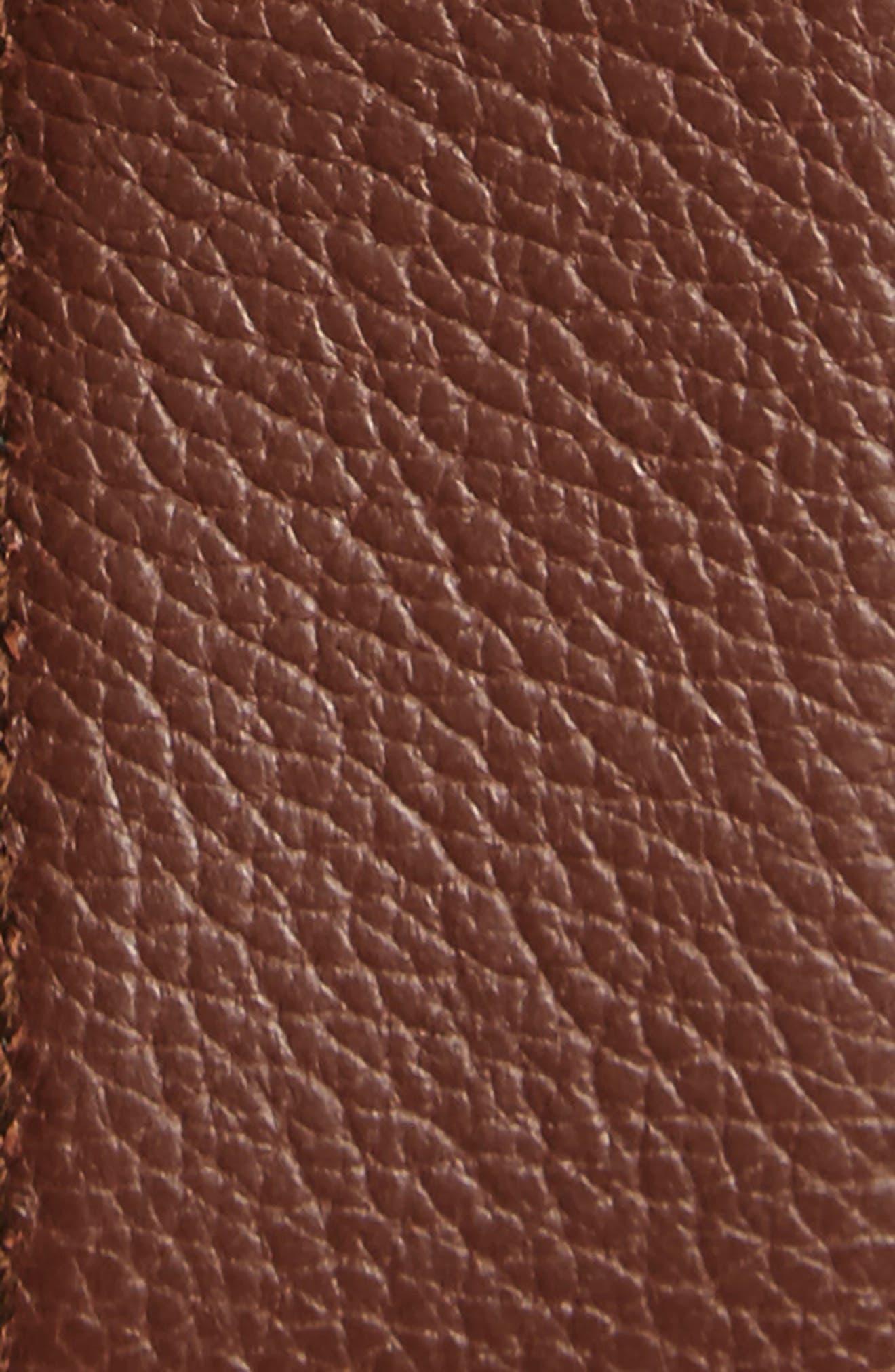 Double Gancini Reversible Leather Belt,                             Alternate thumbnail 3, color,                             007