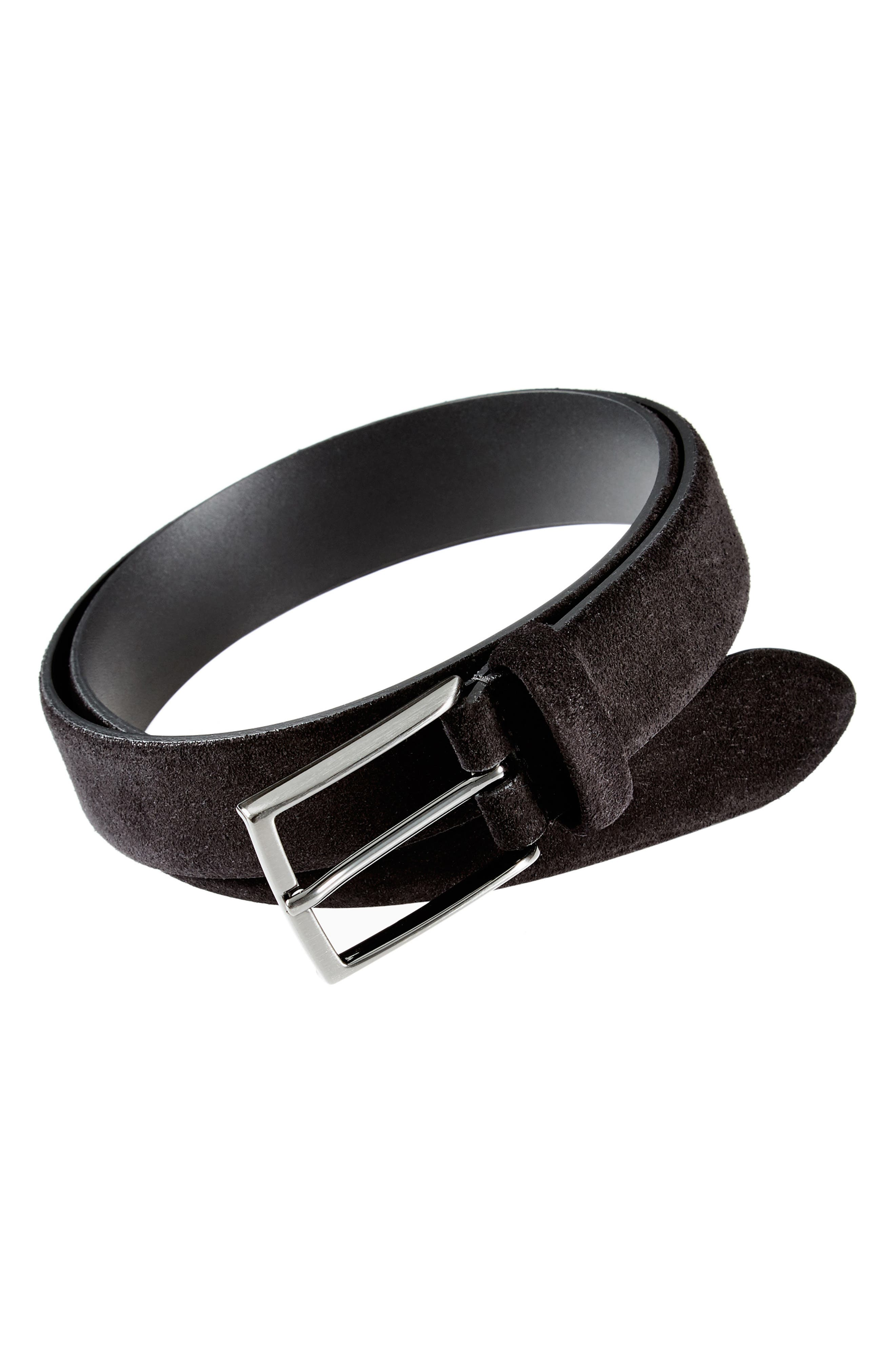 ANDERSONS Suede Belt in Brown