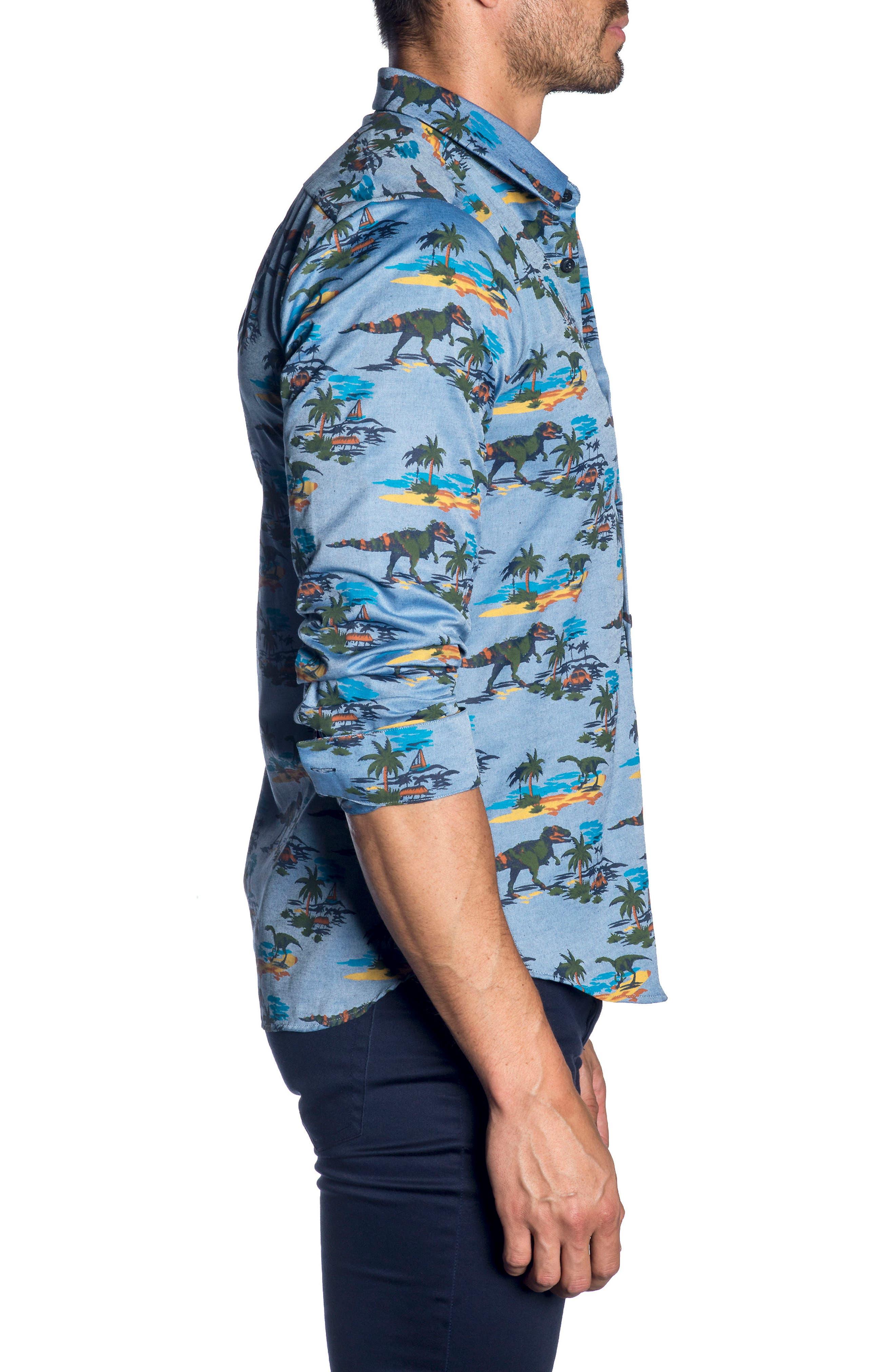 Trim Fit Sport Shirt,                             Alternate thumbnail 3, color,                             426
