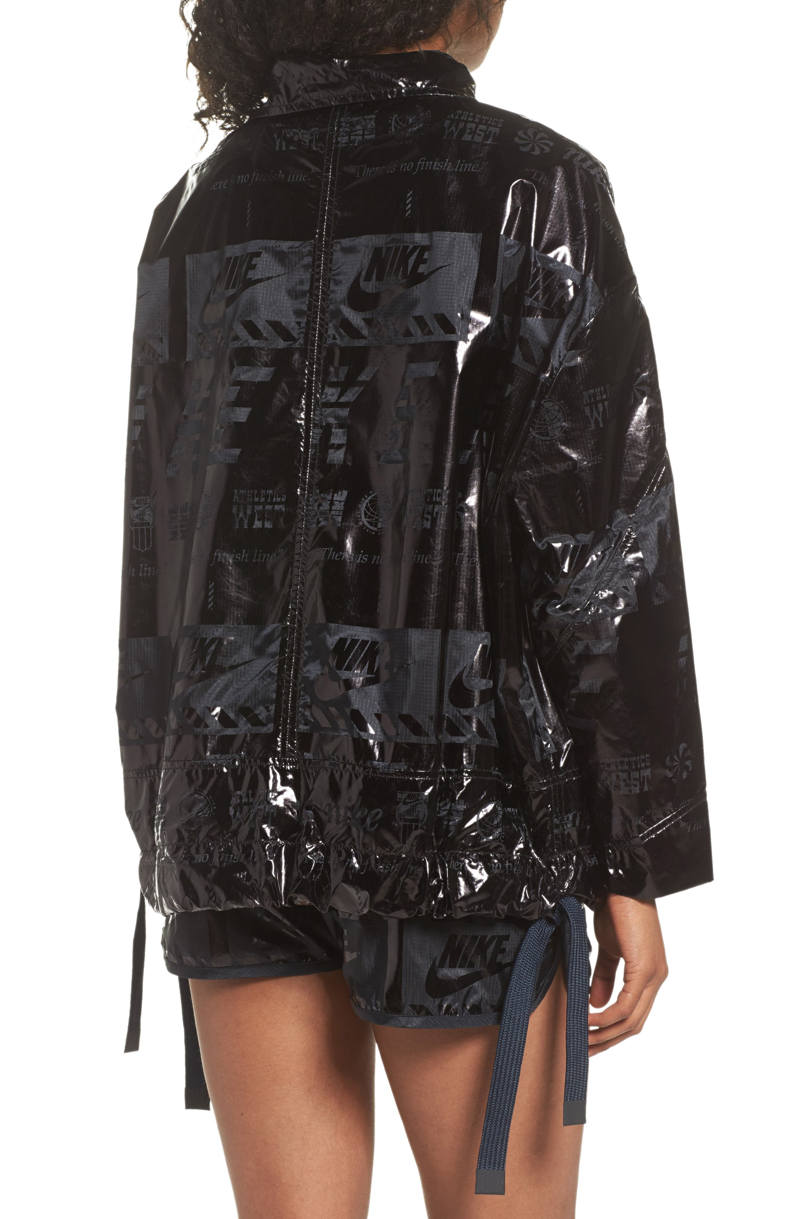 Sportswear Metallic Half Zip Jacket,                             Alternate thumbnail 4, color,
