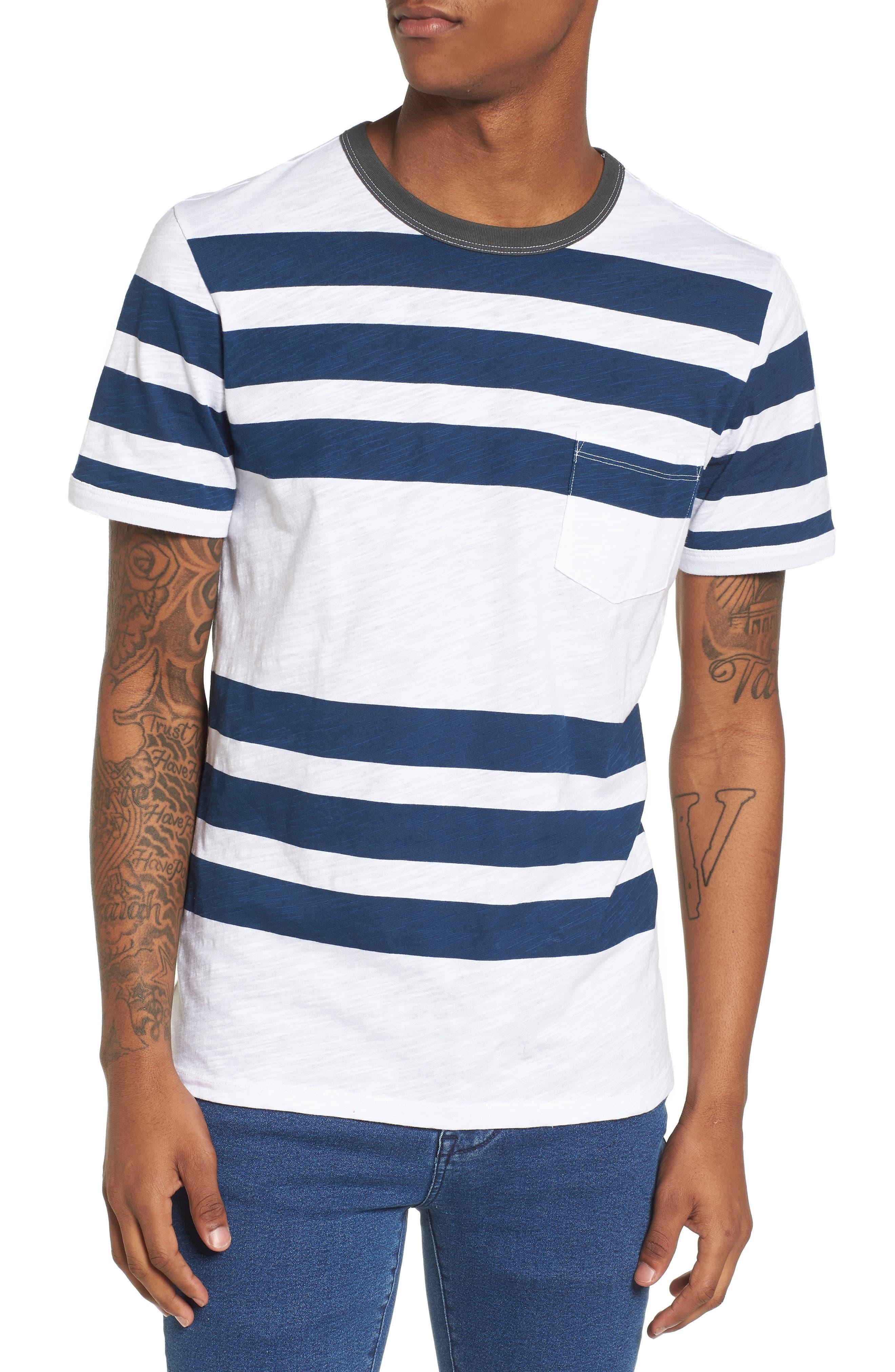 Slub Stripe Ringer T-Shirt,                             Main thumbnail 1, color,                             420