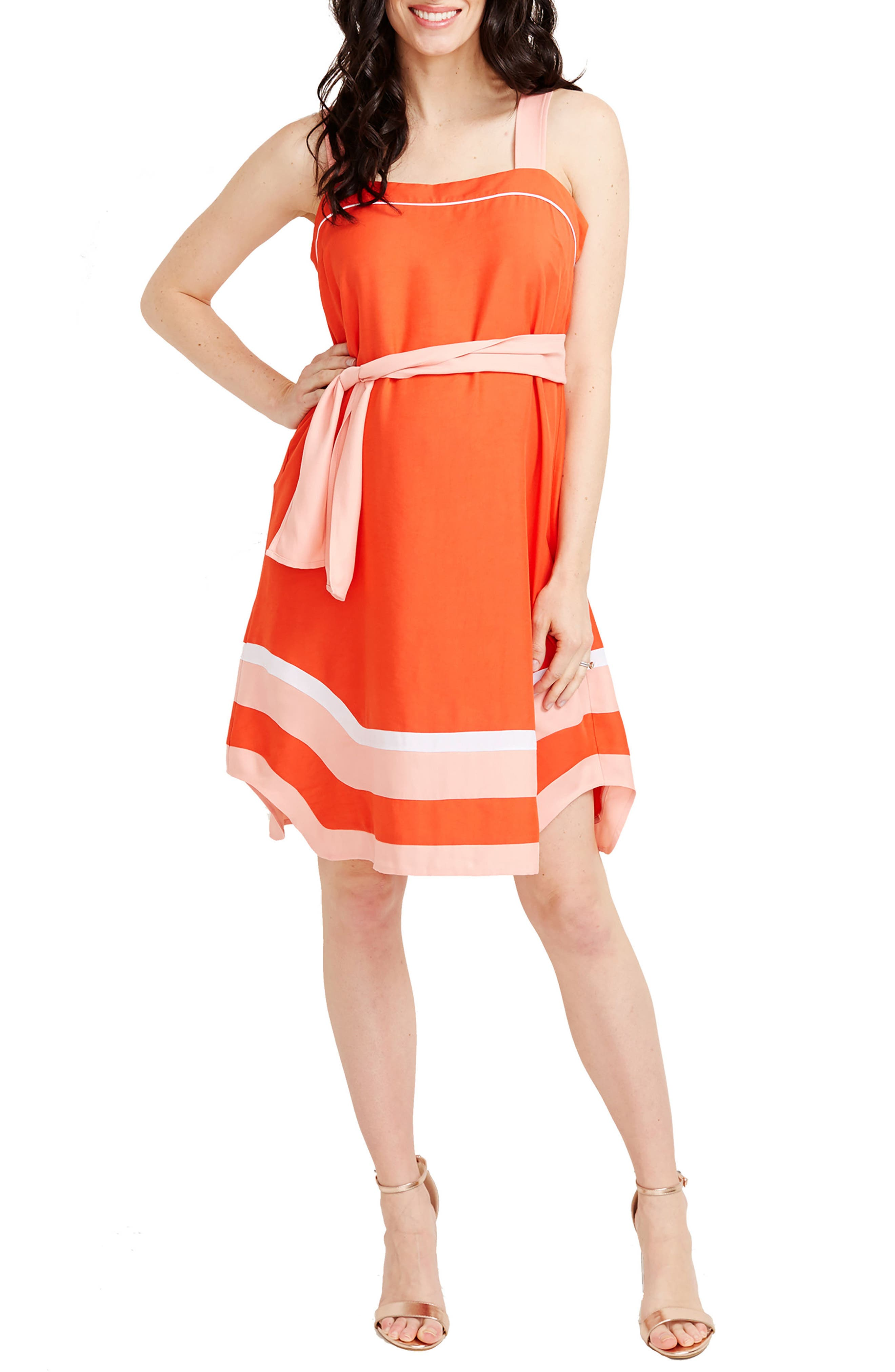 Rosie Pope Delfina Maternity Dress, Orange
