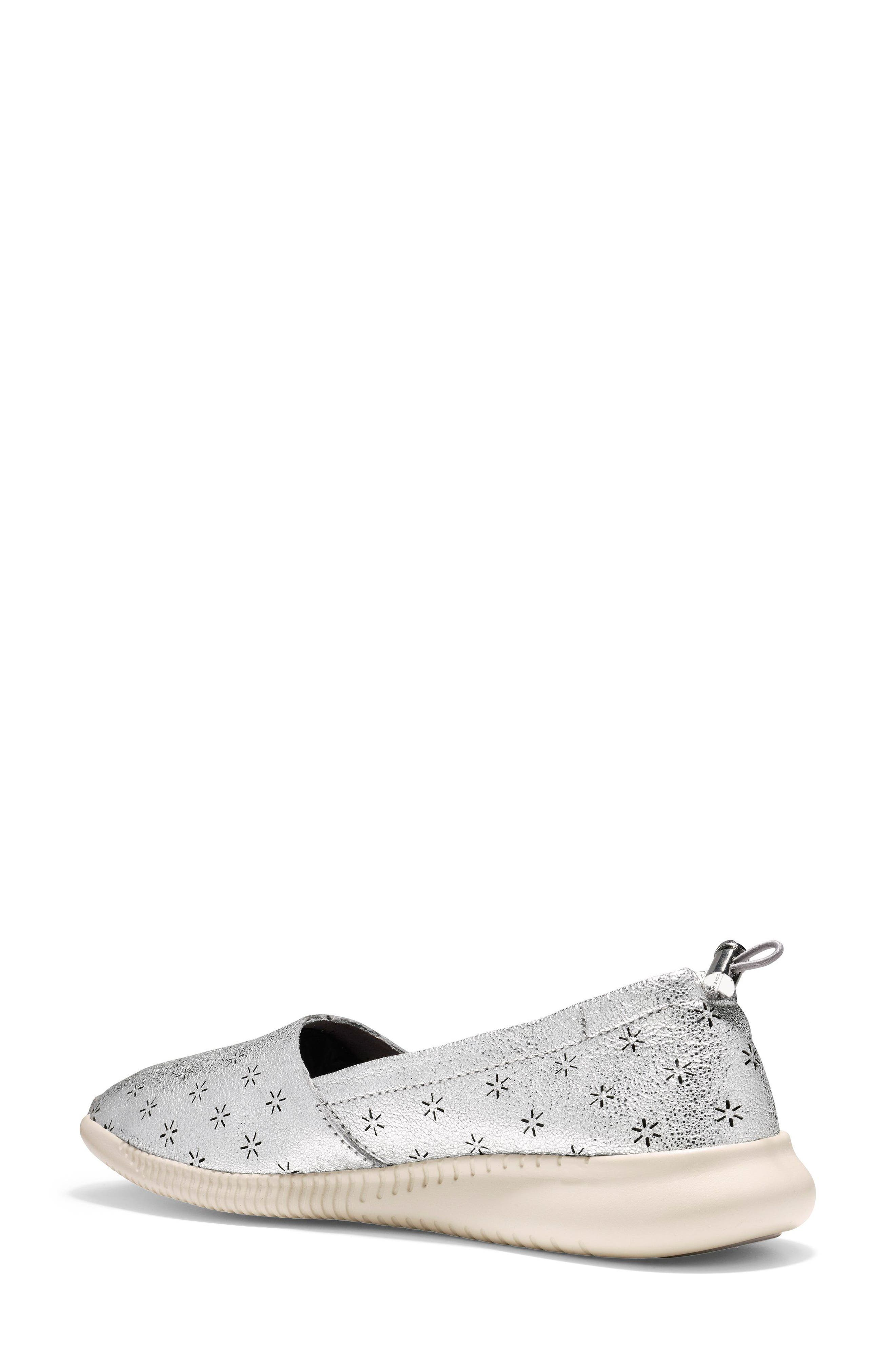 Studiogrand Perforated Slip-on,                             Alternate thumbnail 2, color,                             SILVER LEATHER
