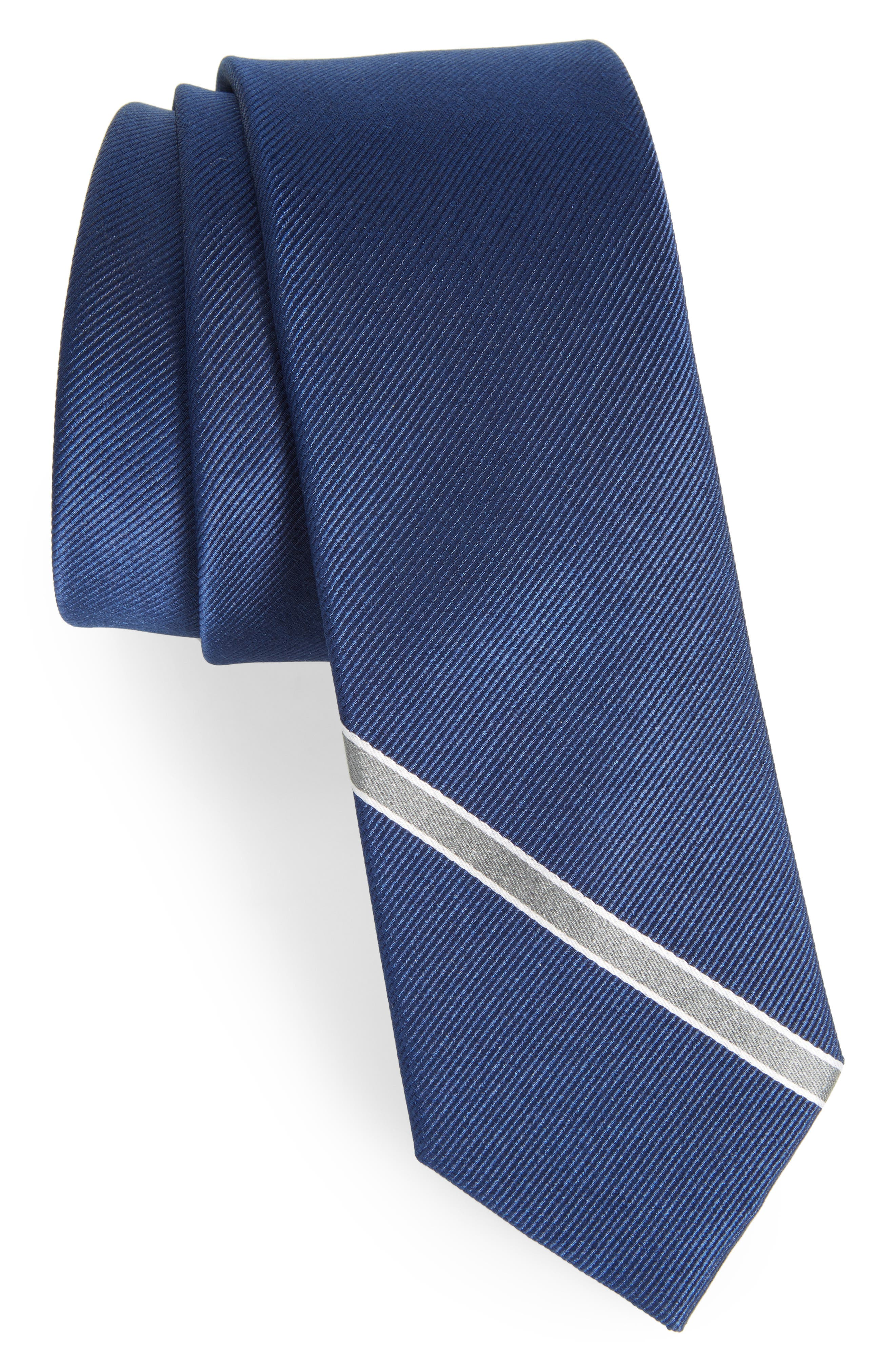 Triple Play Stripe Silk Tie,                         Main,                         color, 410