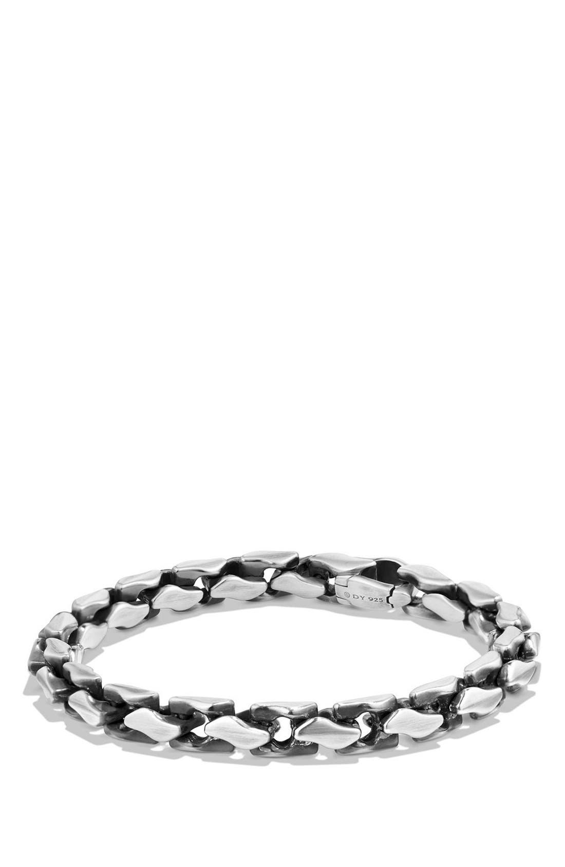 'Chain' Large Fluted Chain Bracelet,                             Main thumbnail 1, color,                             SILVER
