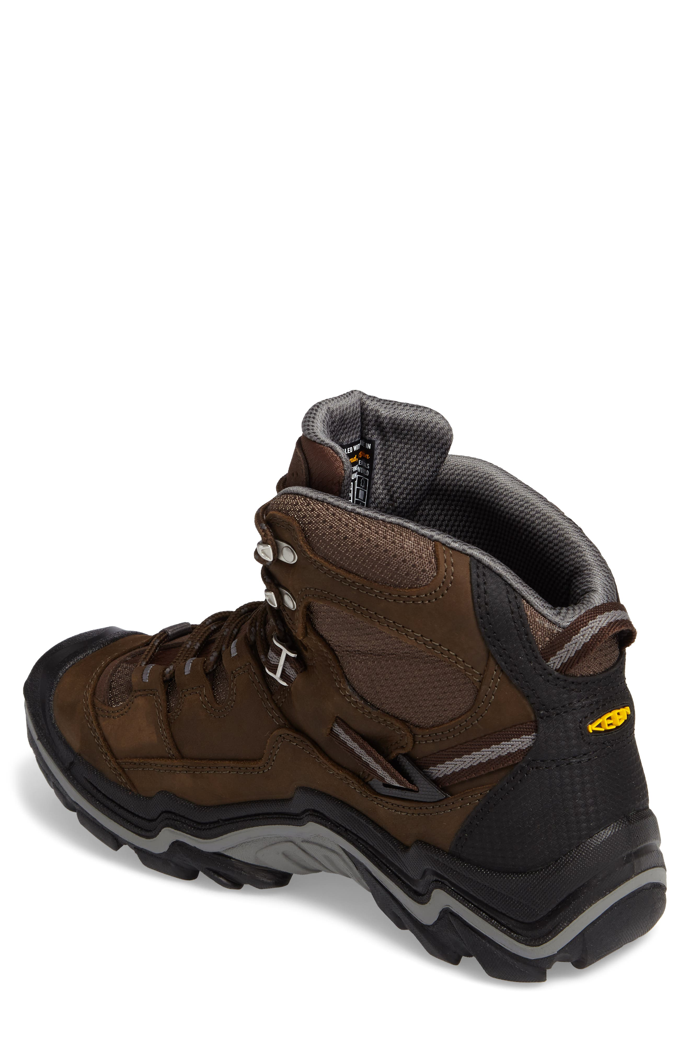 Durand Mid Waterproof Hiking Boot,                             Alternate thumbnail 2, color,                             BROWN LEATHER