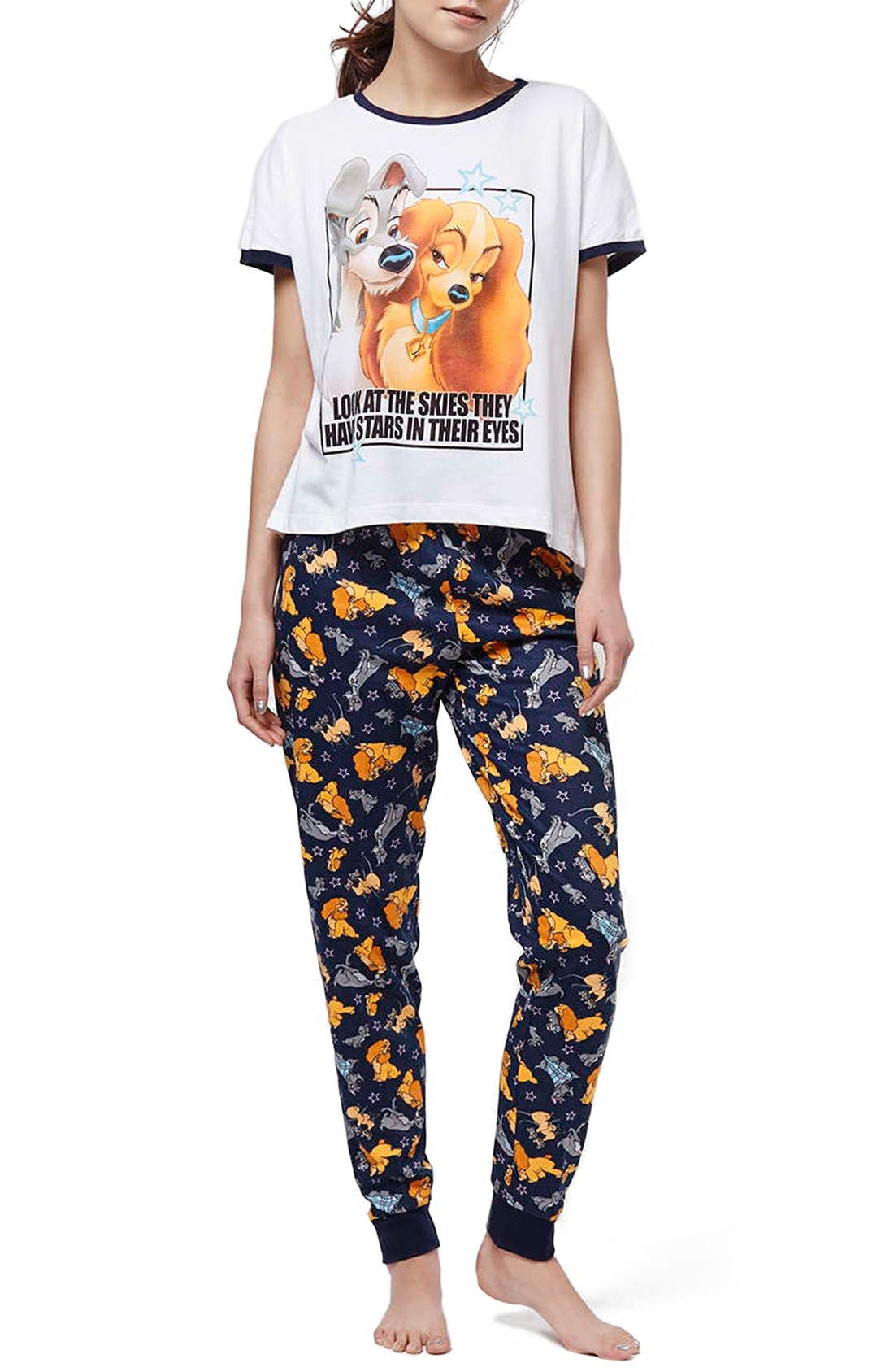 'Lady & the Tramp' Pajamas, Main, color, 050
