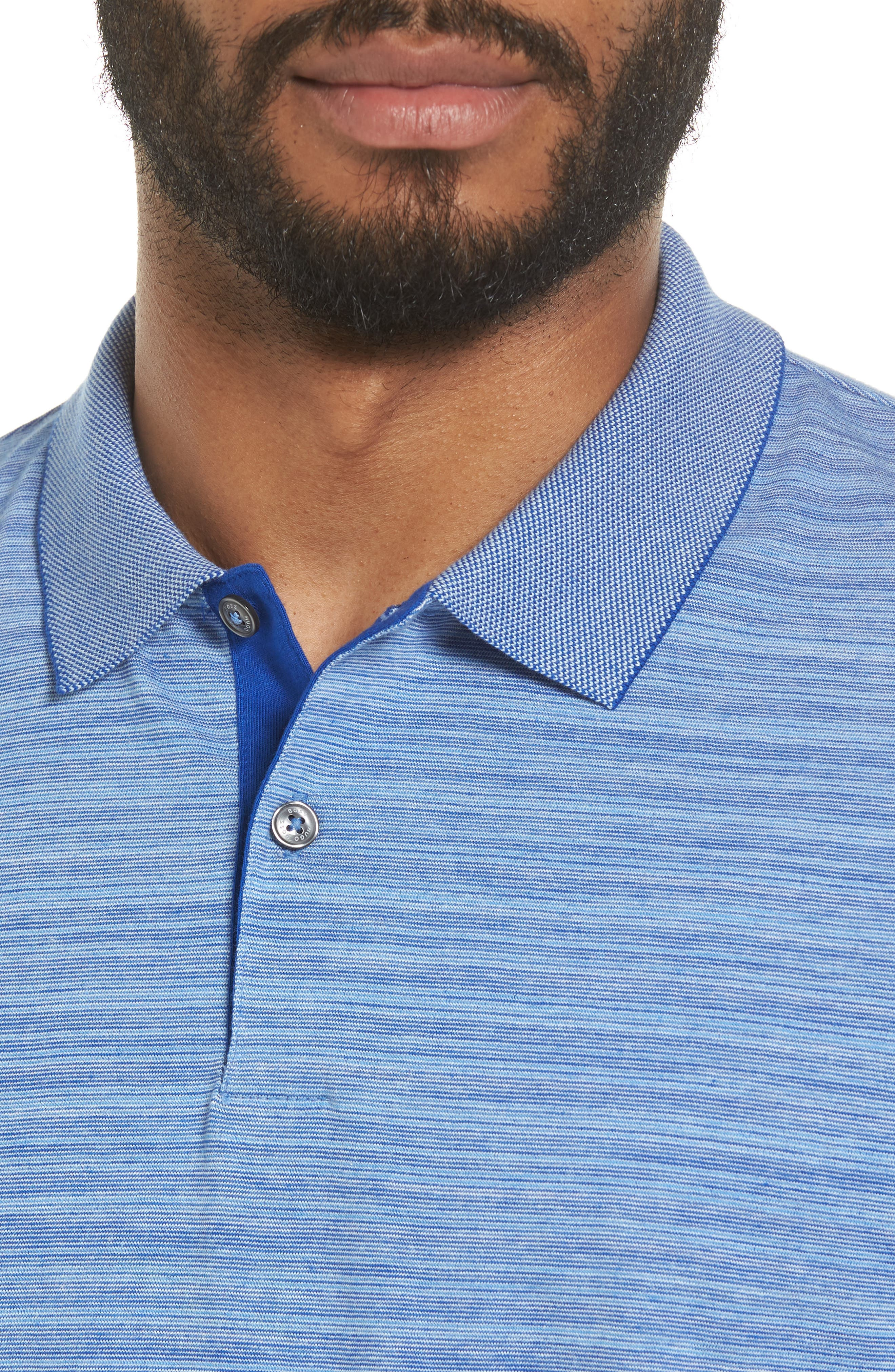 Phillipson Flame Slim Fit Polo,                             Alternate thumbnail 4, color,                             463
